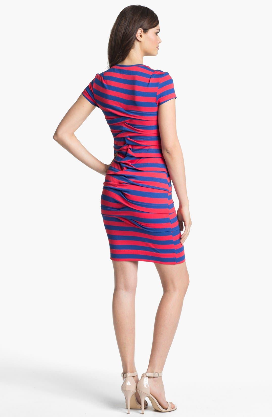 Alternate Image 2  - Nicole Miller Stripe Front Twist Jersey Dress