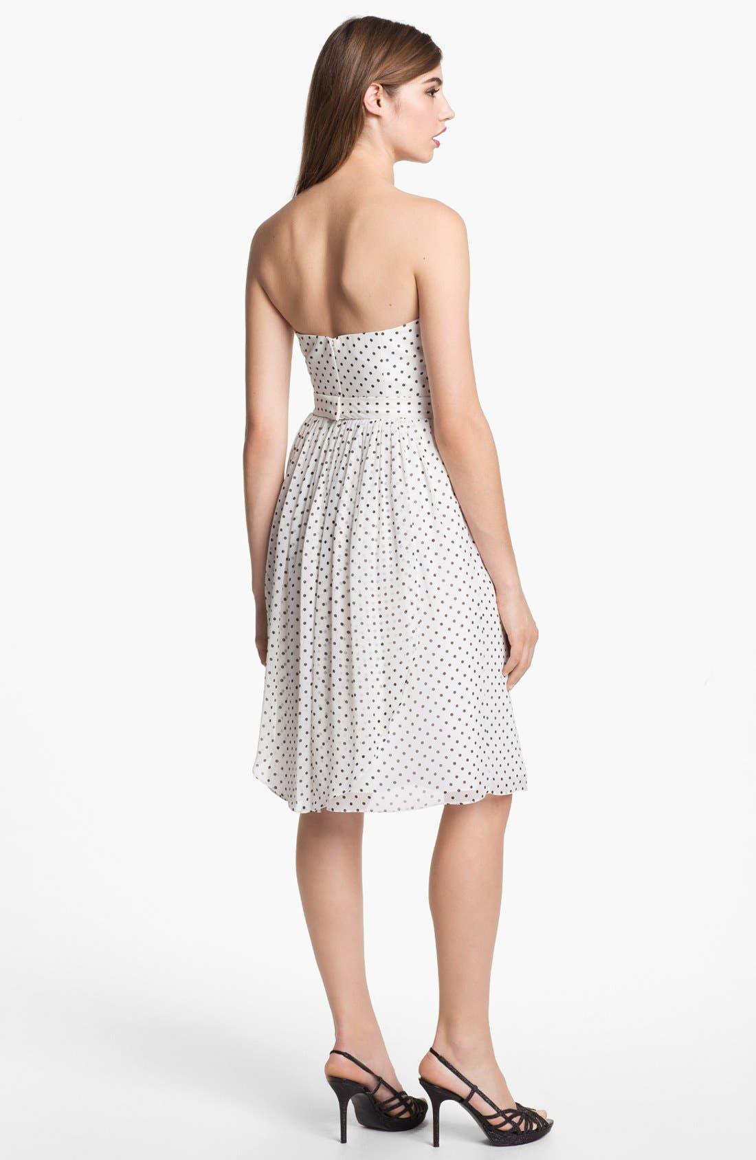 Alternate Image 2  - Jenny Yoo 'Keira' Convertible Dot Chiffon Fit & Flare Dress