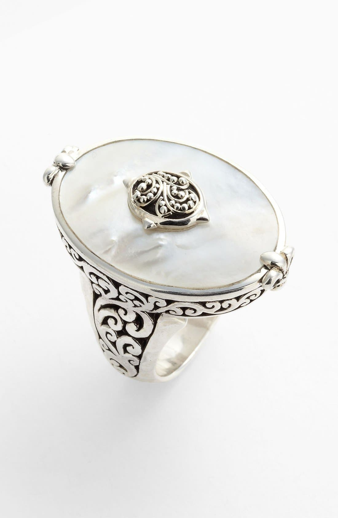 Main Image - Lois Hill Large Mother-of-Pearl Cocktail Ring