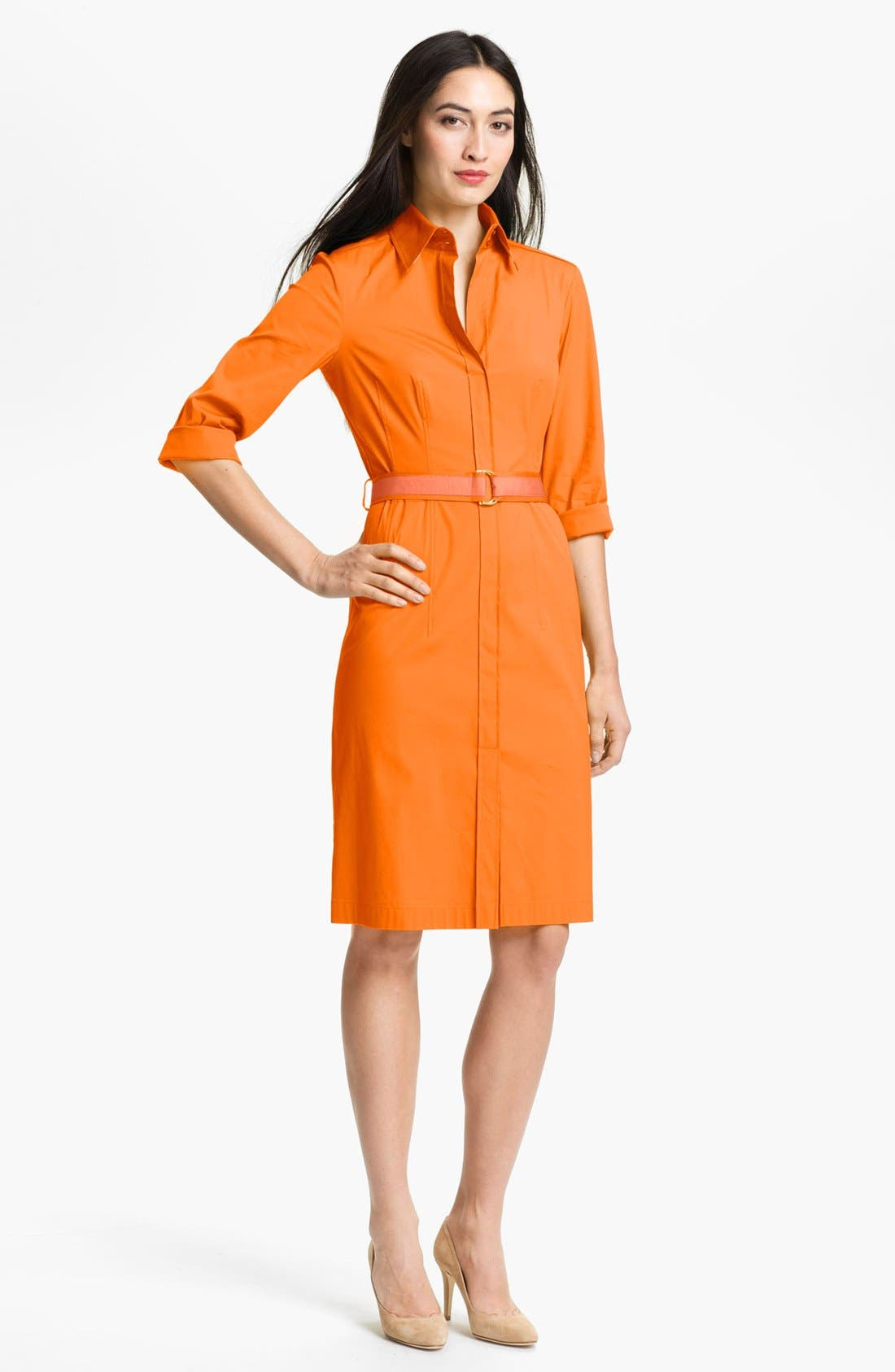 Alternate Image 1 Selected - BOSS HUGO BOSS 'Dashina 3' Shirtdress