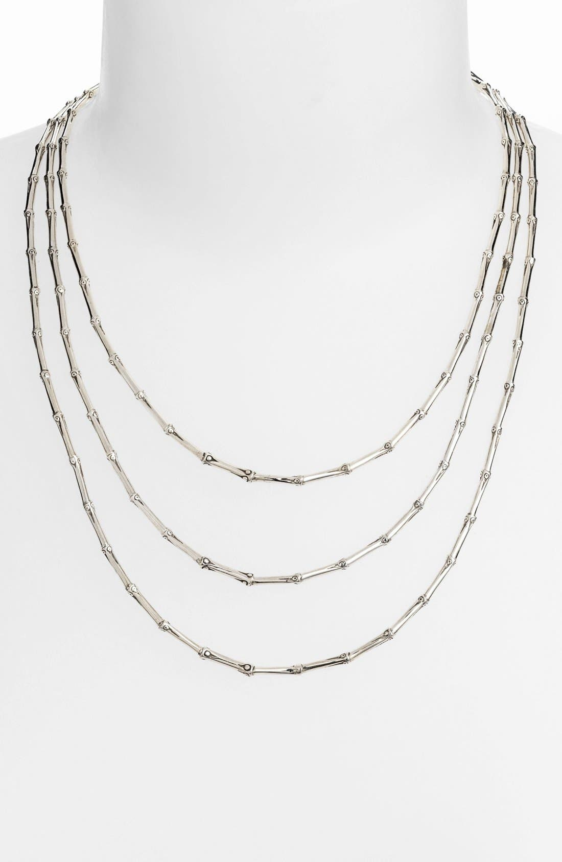 Alternate Image 1 Selected - John Hardy 'Bamboo' Triple Row Necklace