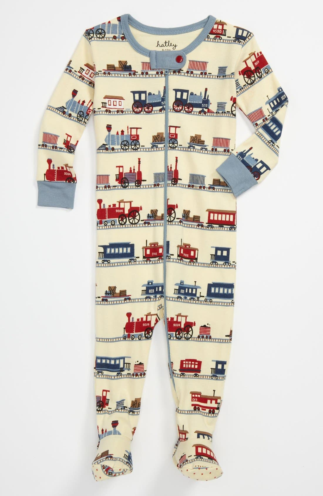 Alternate Image 1 Selected - Hatley Fitted Footie Pajamas (Infant)