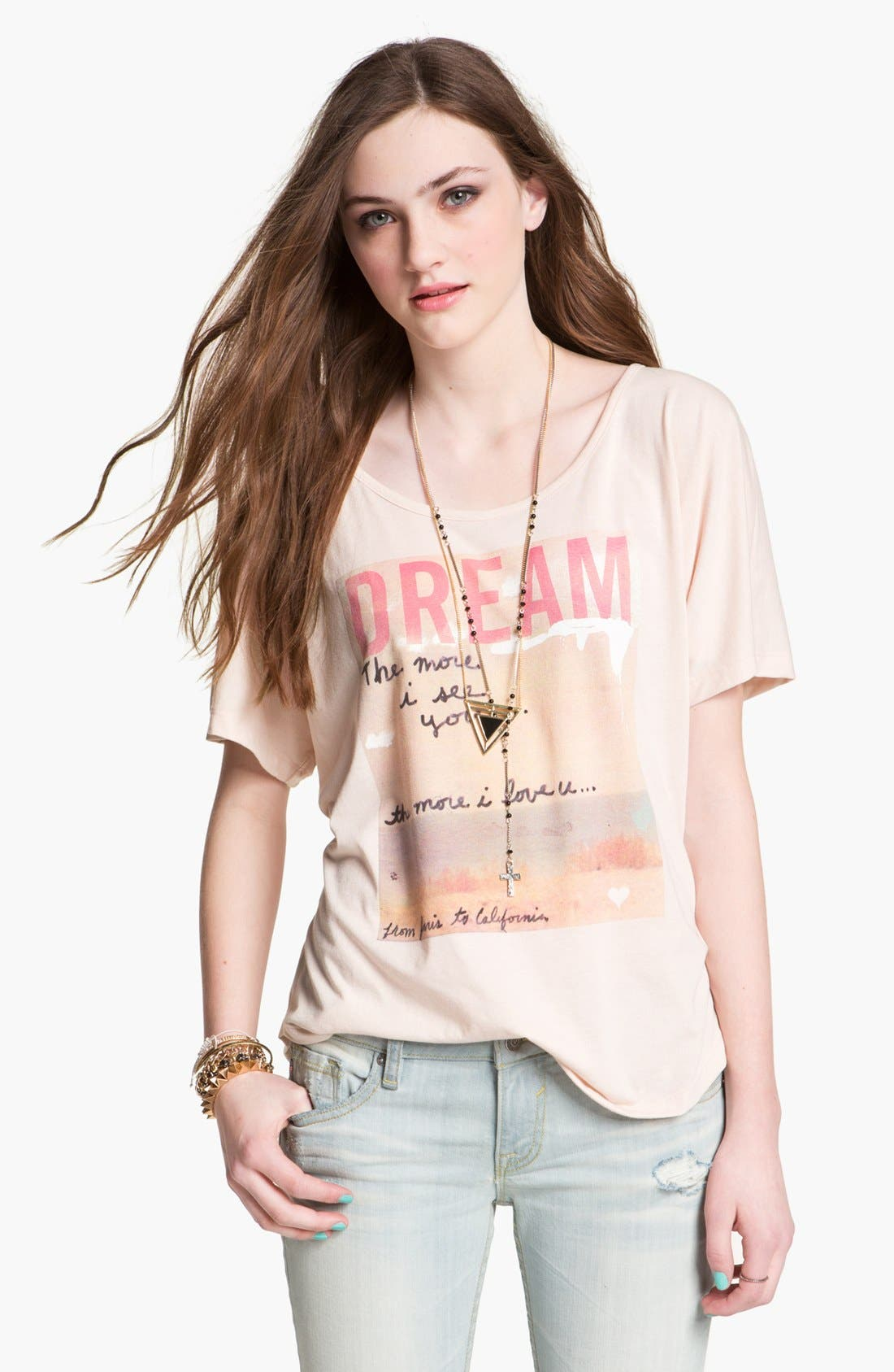 Alternate Image 1 Selected - Malibu Native 'Dream' Screenprint Tee (Juniors)