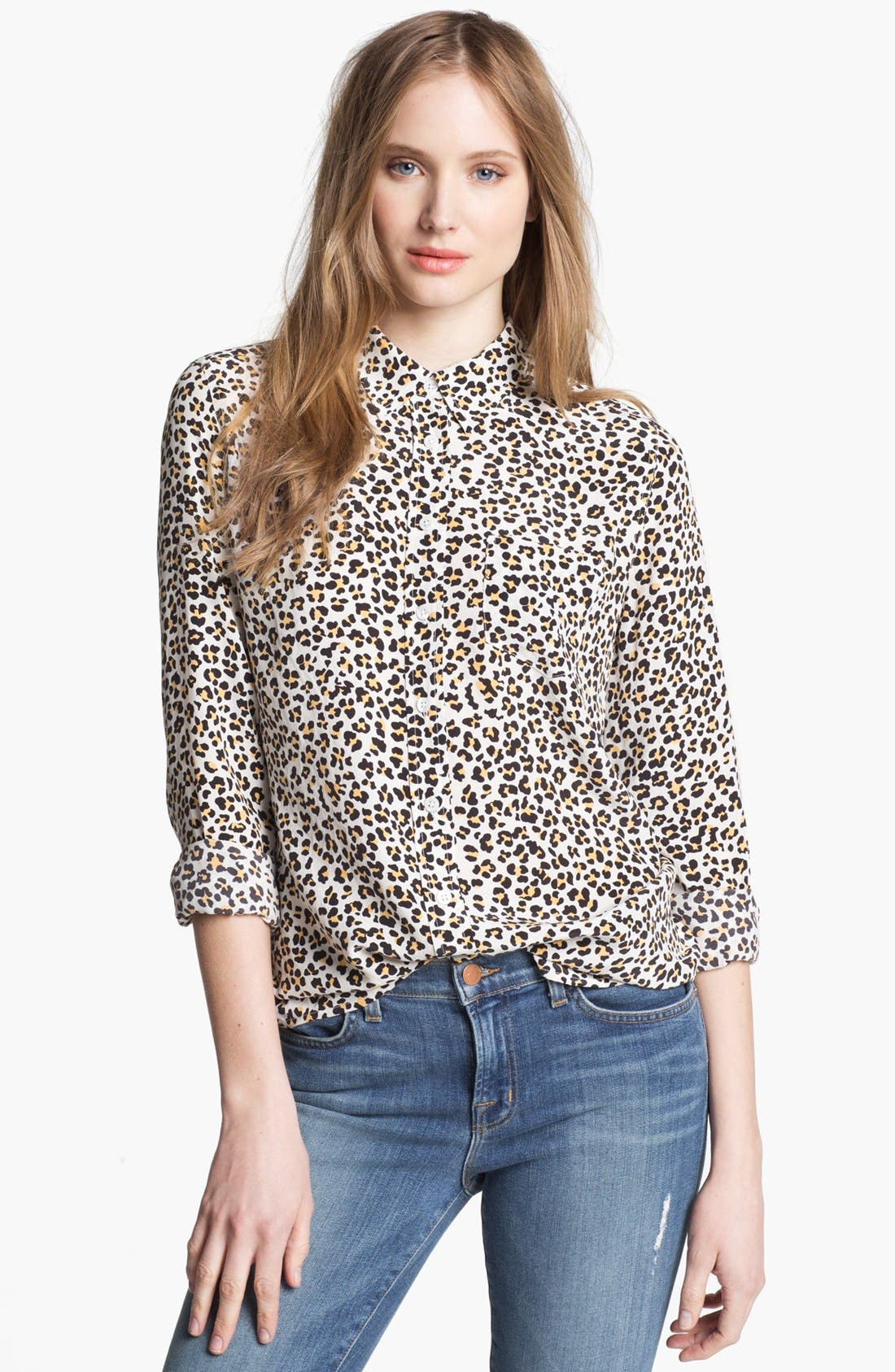 Alternate Image 1 Selected - Equipment 'Brett' Print Silk Top