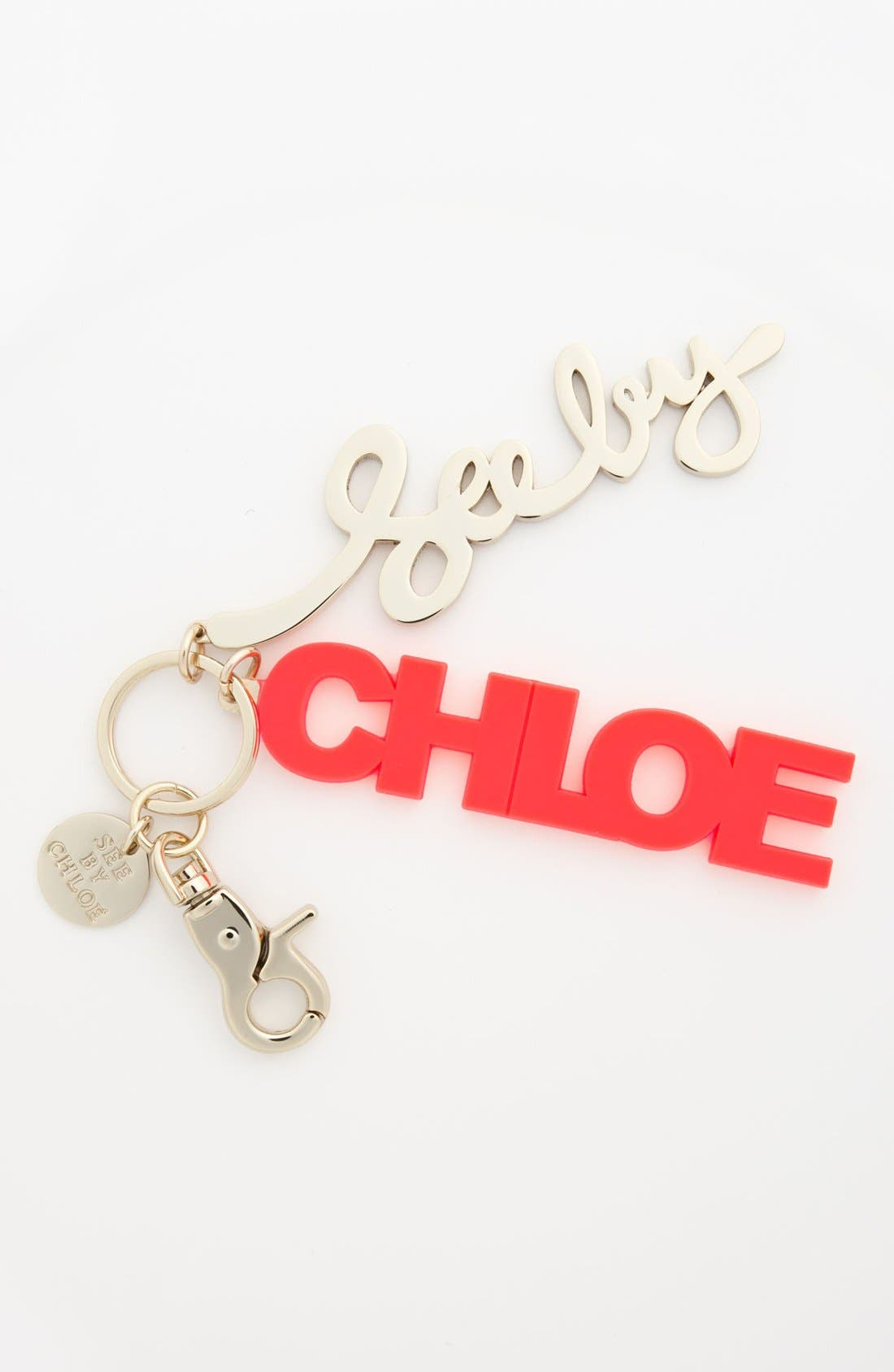 Main Image - See by Chloé Block Letter Key Ring
