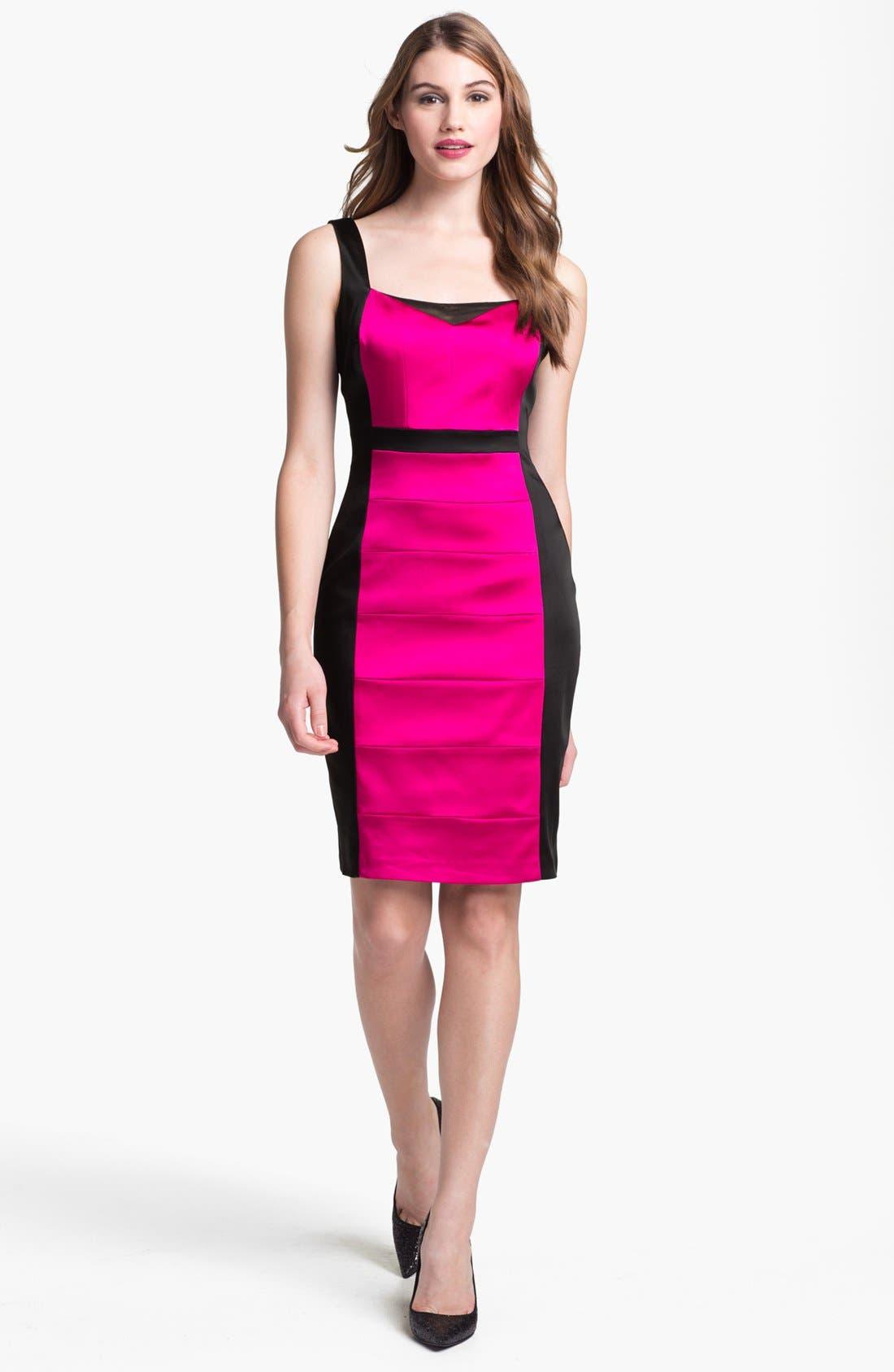 Alternate Image 1  - JAX Colorblock Seamed Sleeveless Sheath Dress
