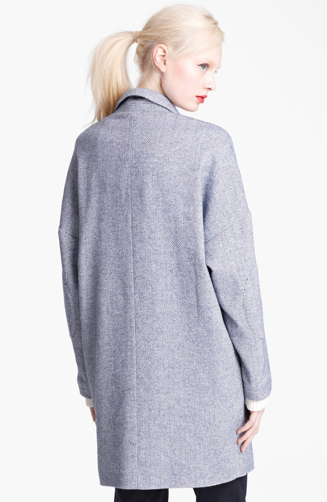 Alternate Image 2  - Band of Outsiders Herringbone Wool Coat