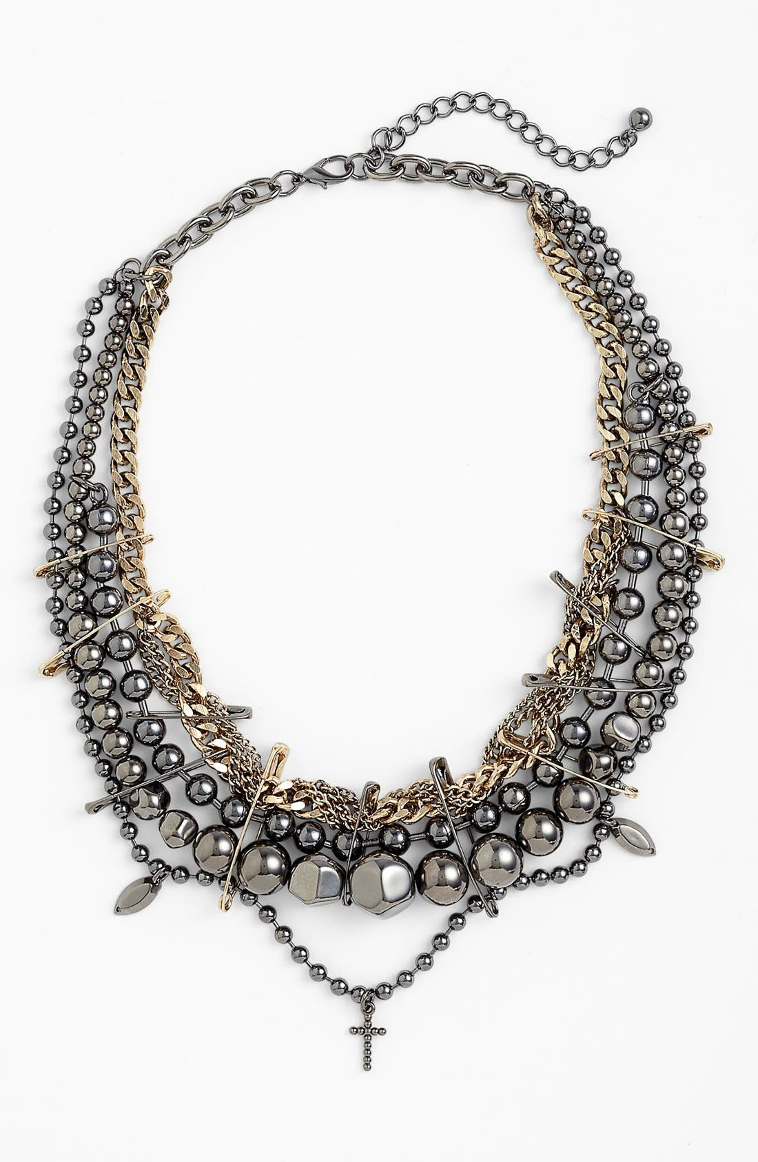 Alternate Image 1 Selected - Natasha Couture 'Safety Pin' Multistrand Necklace