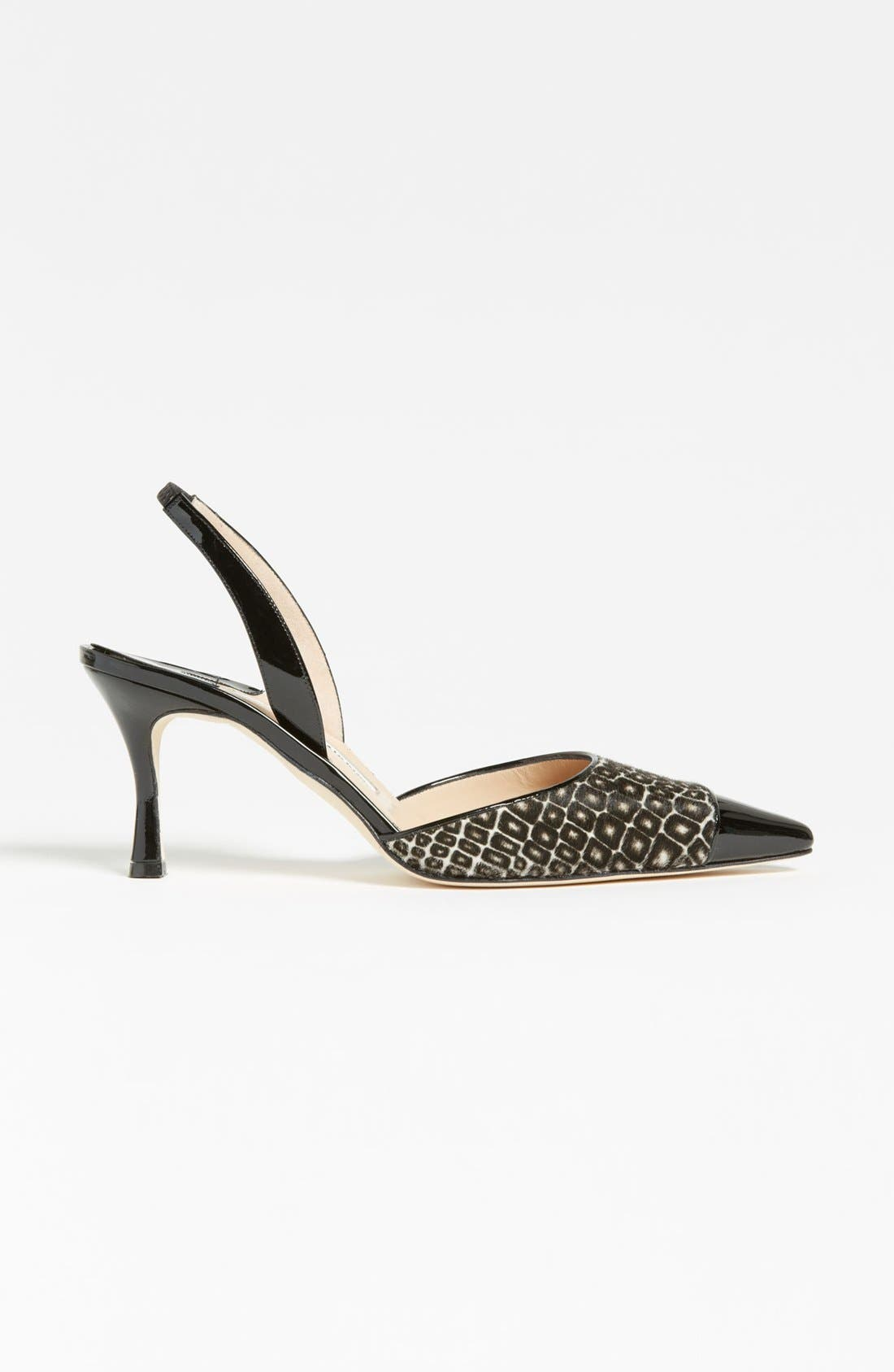 Alternate Image 4  - Manolo Blahnik 'Ploie' Slingback Pump
