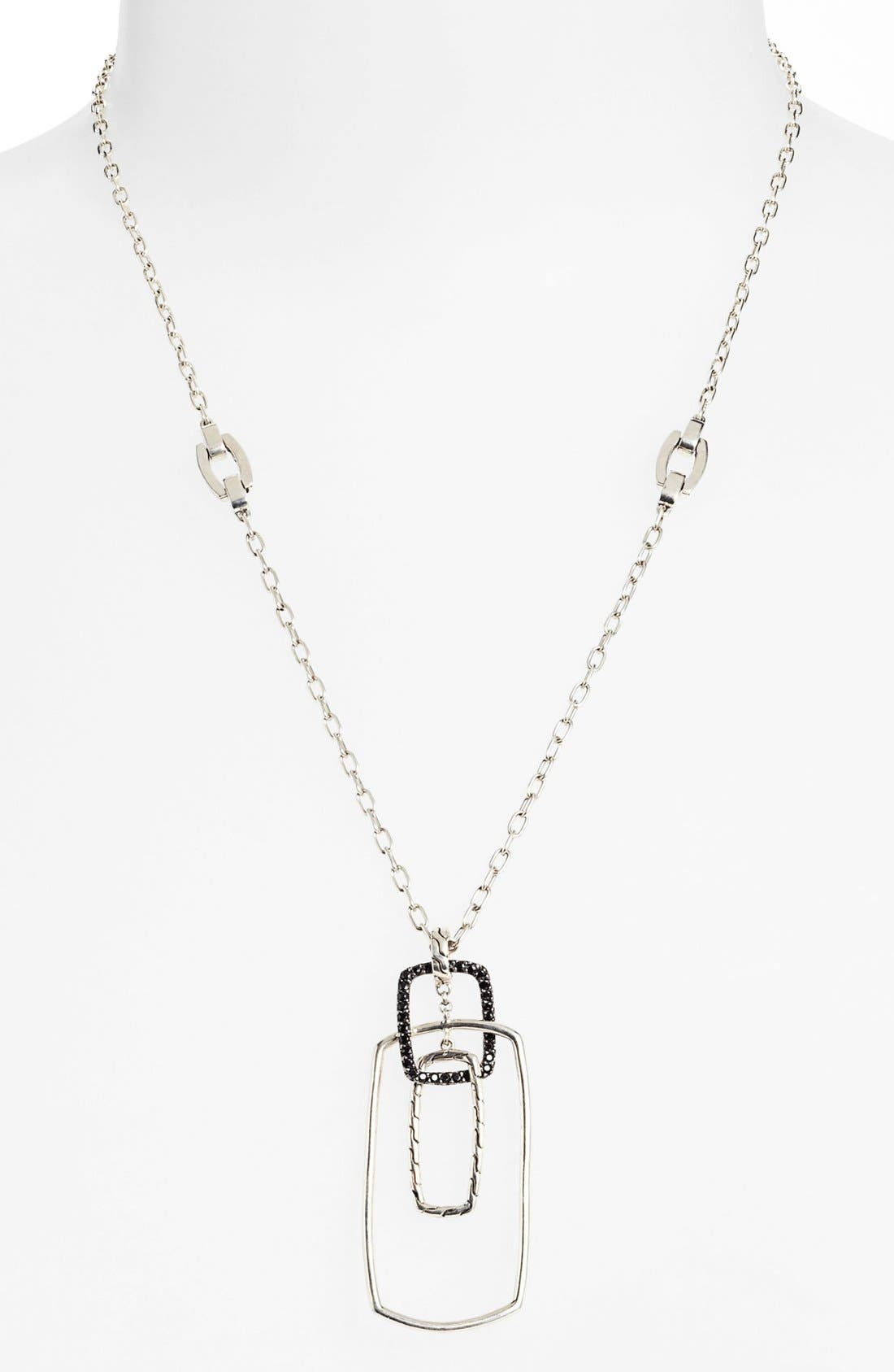 Alternate Image 1 Selected - John Hardy 'Classic Chain - Lava' Interlink Pendant Necklace