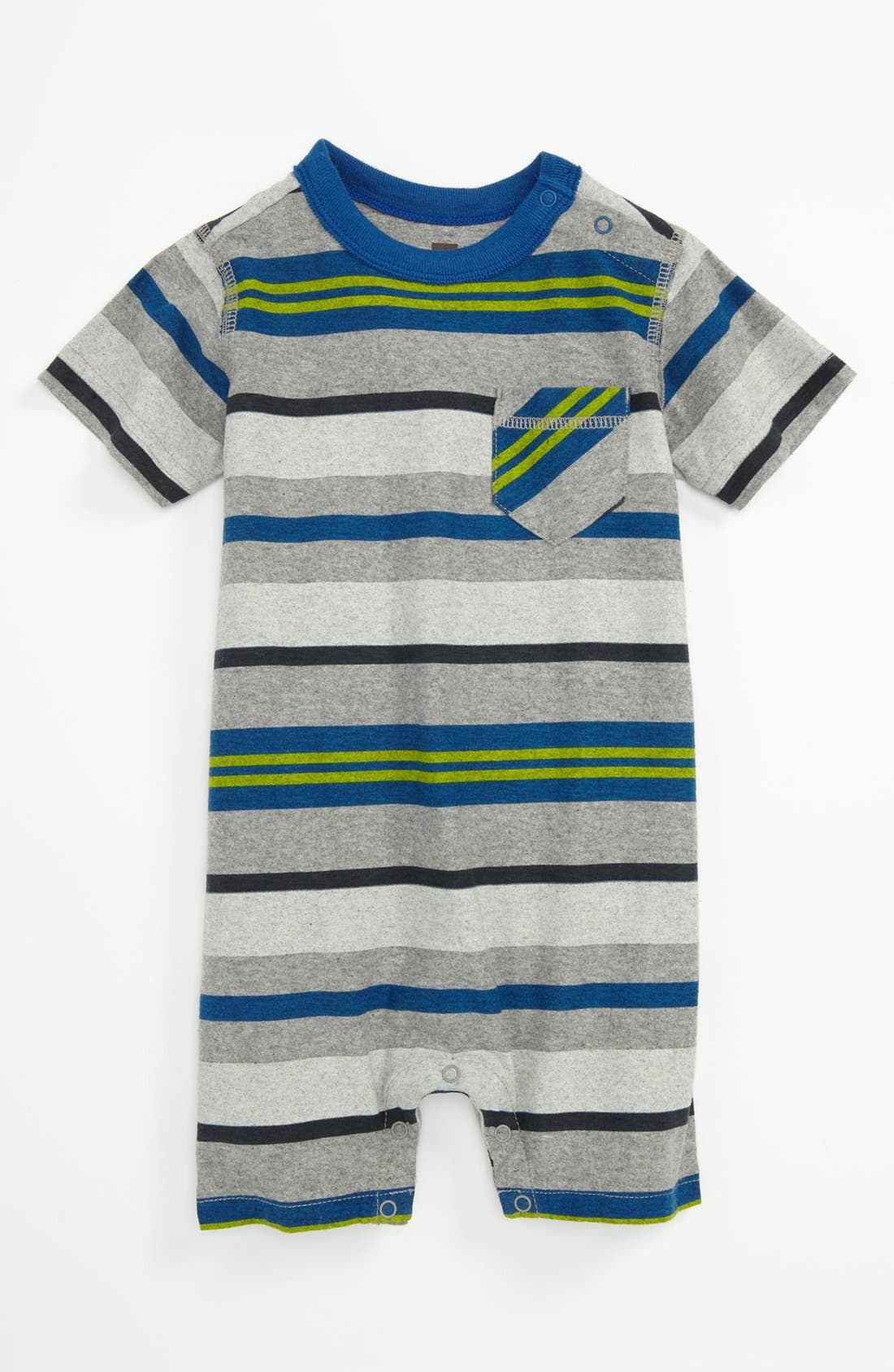 Main Image - Tea Collection 'Surf Beach' Romper (Baby)
