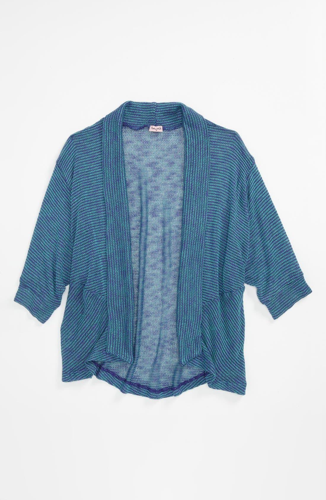 Alternate Image 1 Selected - Splendid 'Beachglass' Knit Wrap (Big Girls)