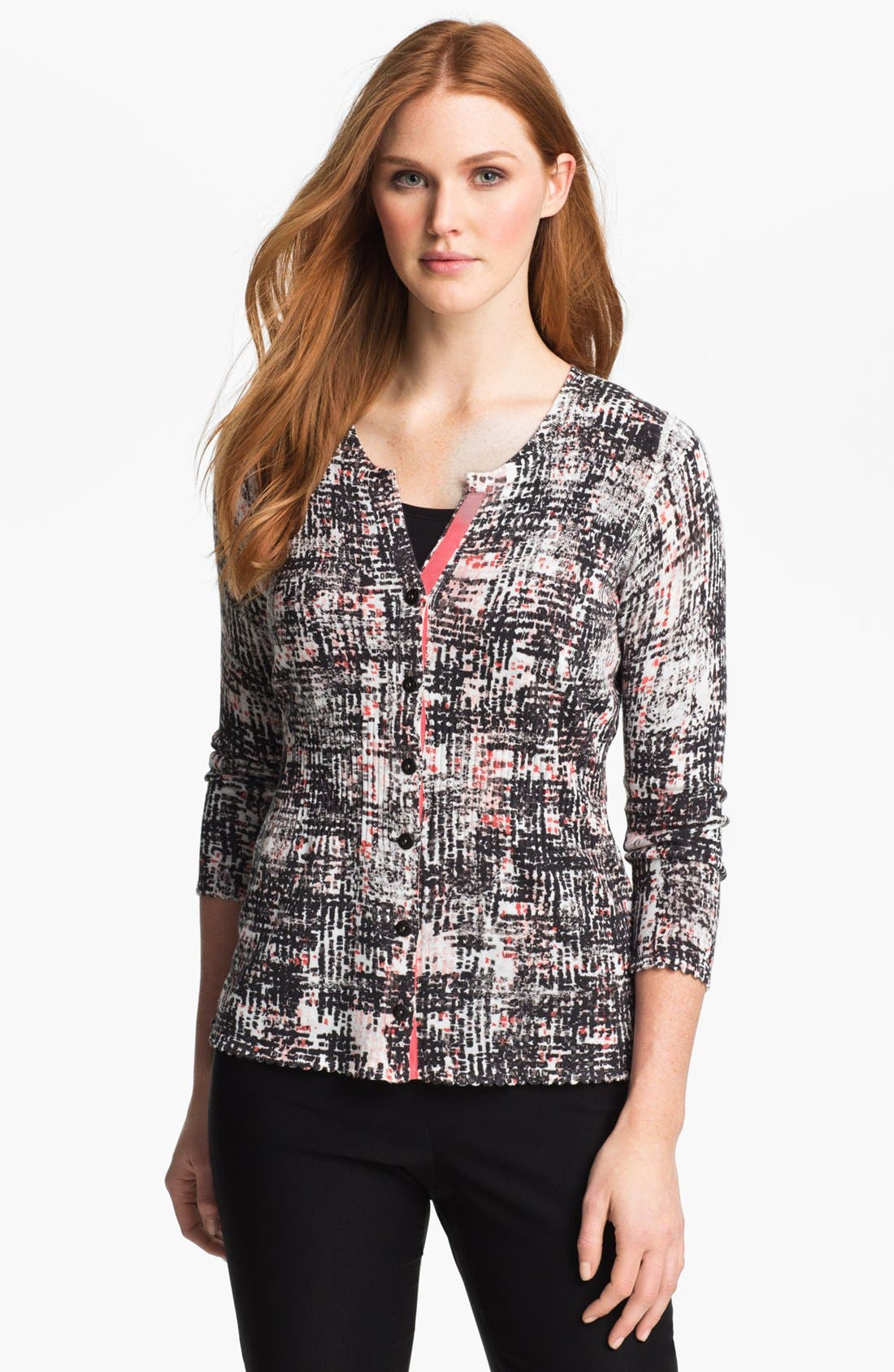 Alternate Image 1 Selected - Nic + Zoe 'This and That' Reversible Cardigan (Petite)