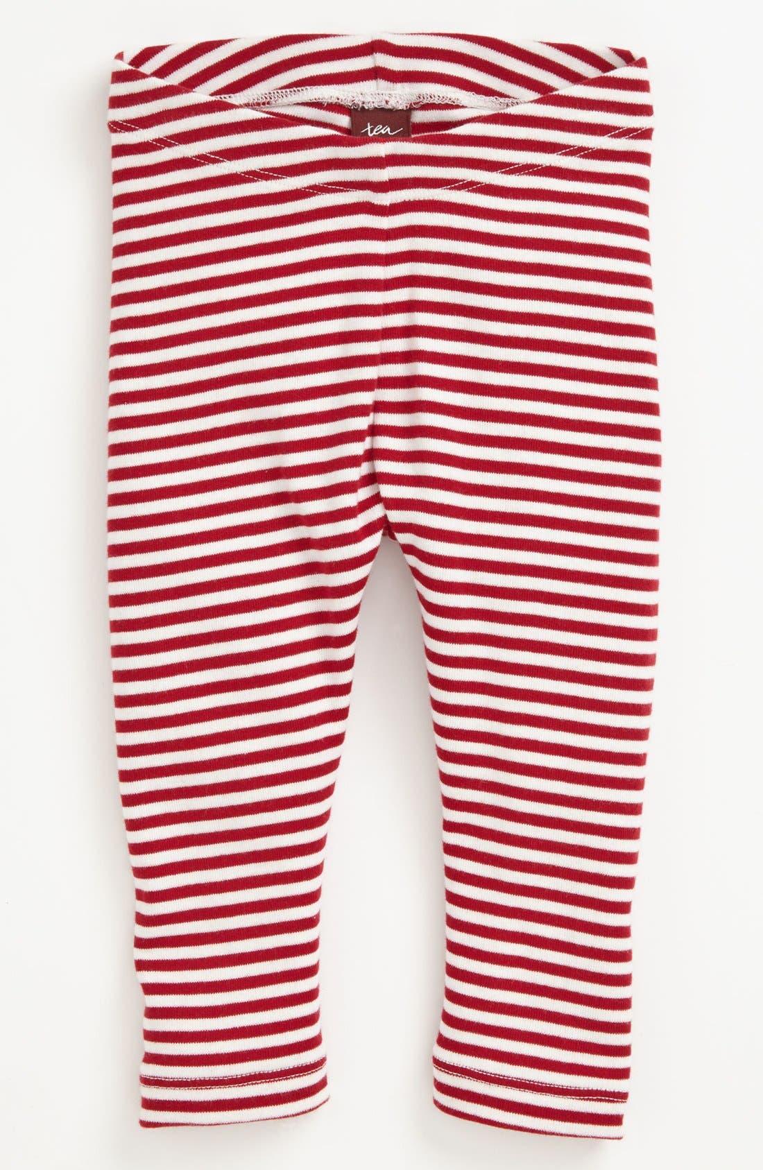 Main Image - Tea Collection 'Pop Stripe' Leggings (Little Girls & Big Girls)