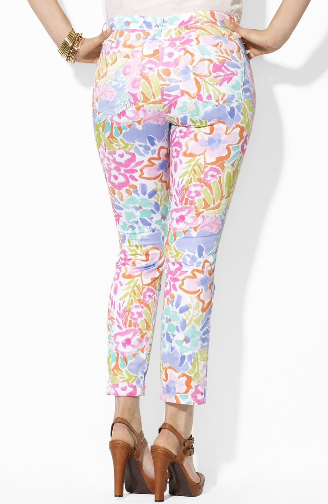 Alternate Image 2  - Lauren Ralph Lauren Modern Skinny Ankle Pants (Plus Size)