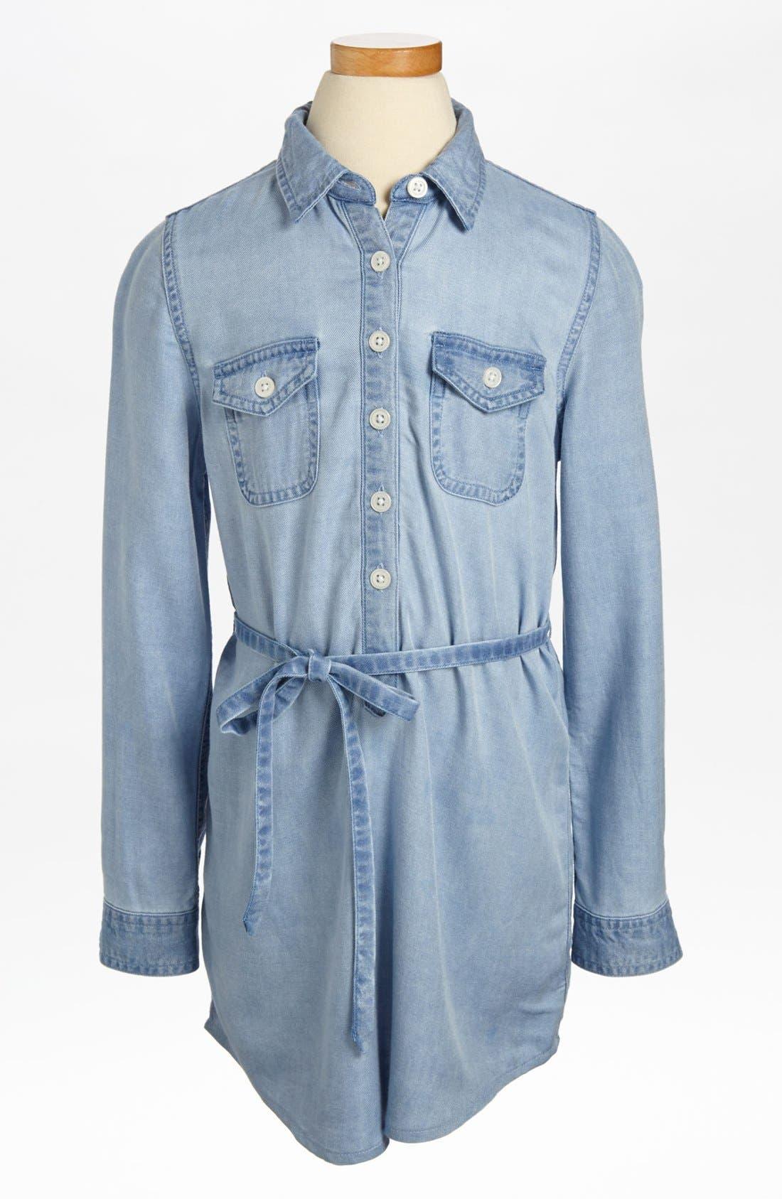 Main Image - Tucker + Tate 'Drew' Chambray Shirtdress (Little Girls)