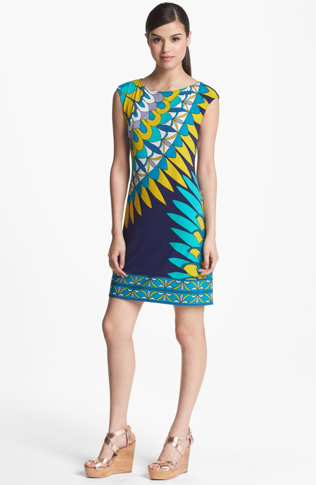 Main Image - Donna Morgan Print Jersey Sheath Dress