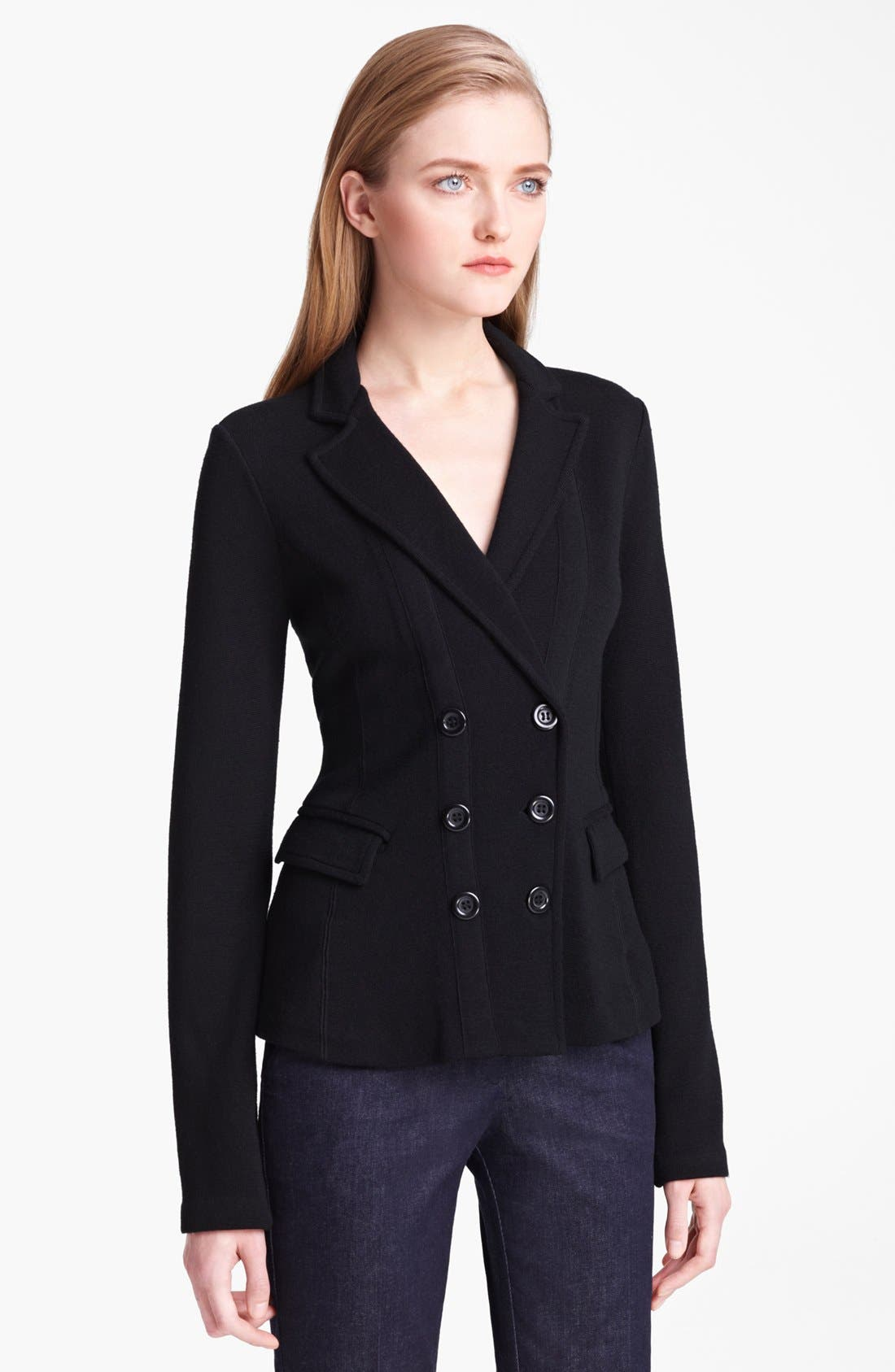 Main Image - Armani Collezioni Double Breasted Wool & Silk Jacket