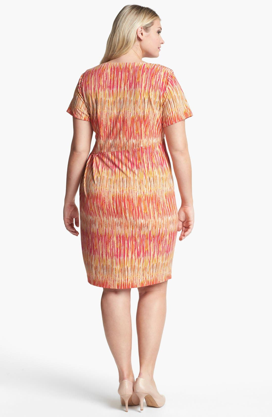 Alternate Image 2  - Vince Camuto Print Sheath Dress (Plus Size)