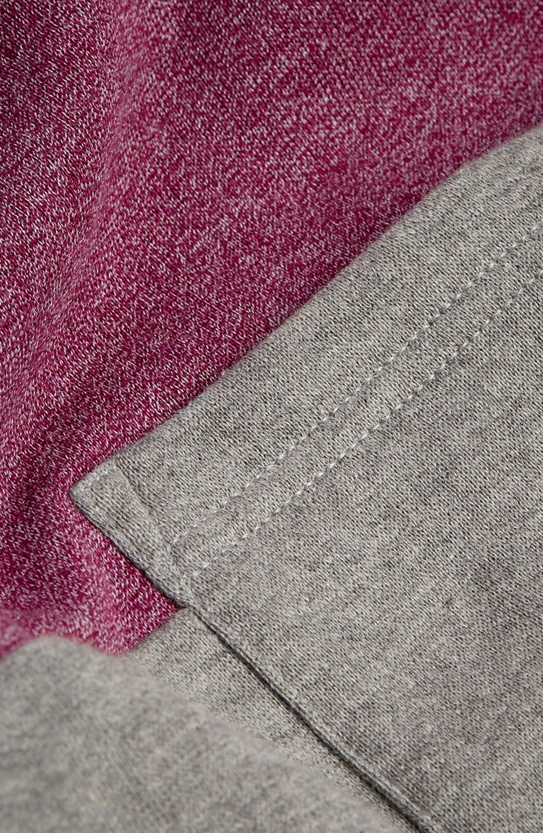 Alternate Image 3  - Topman Cut & Sew Crewneck Sweatshirt