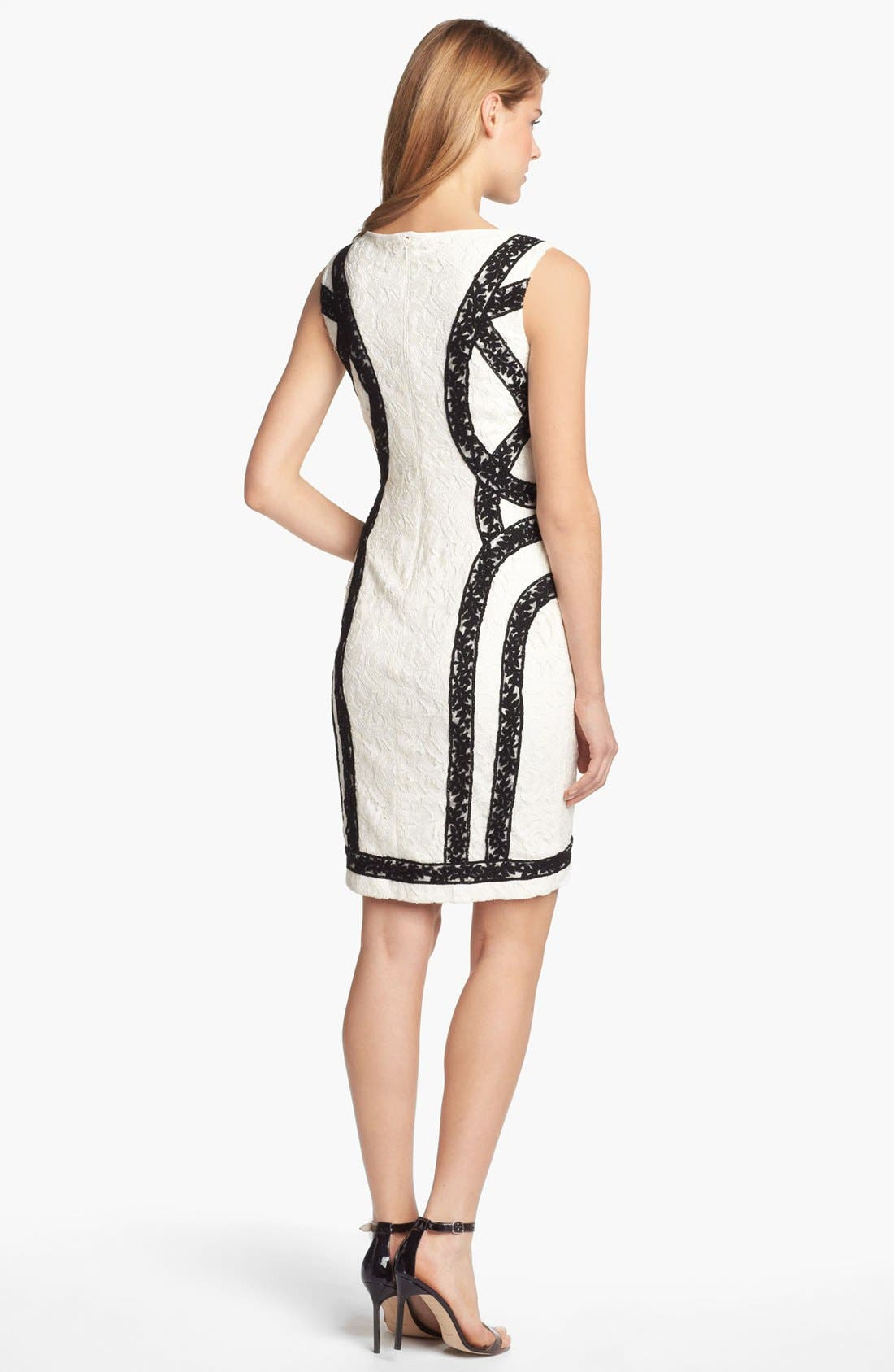 Alternate Image 2  - Tadashi Shoji Two Tone Lace Sheath Dress