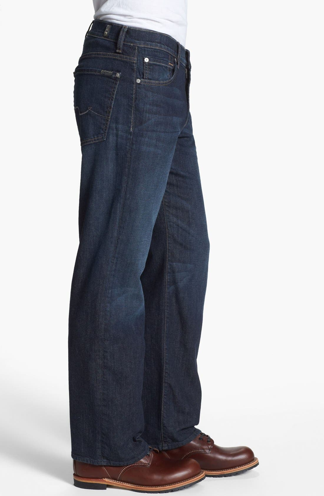 Alternate Image 3  - 7 For All Mankind® Relaxed Leg Jeans (Worn Hawthorne) (Online Only)