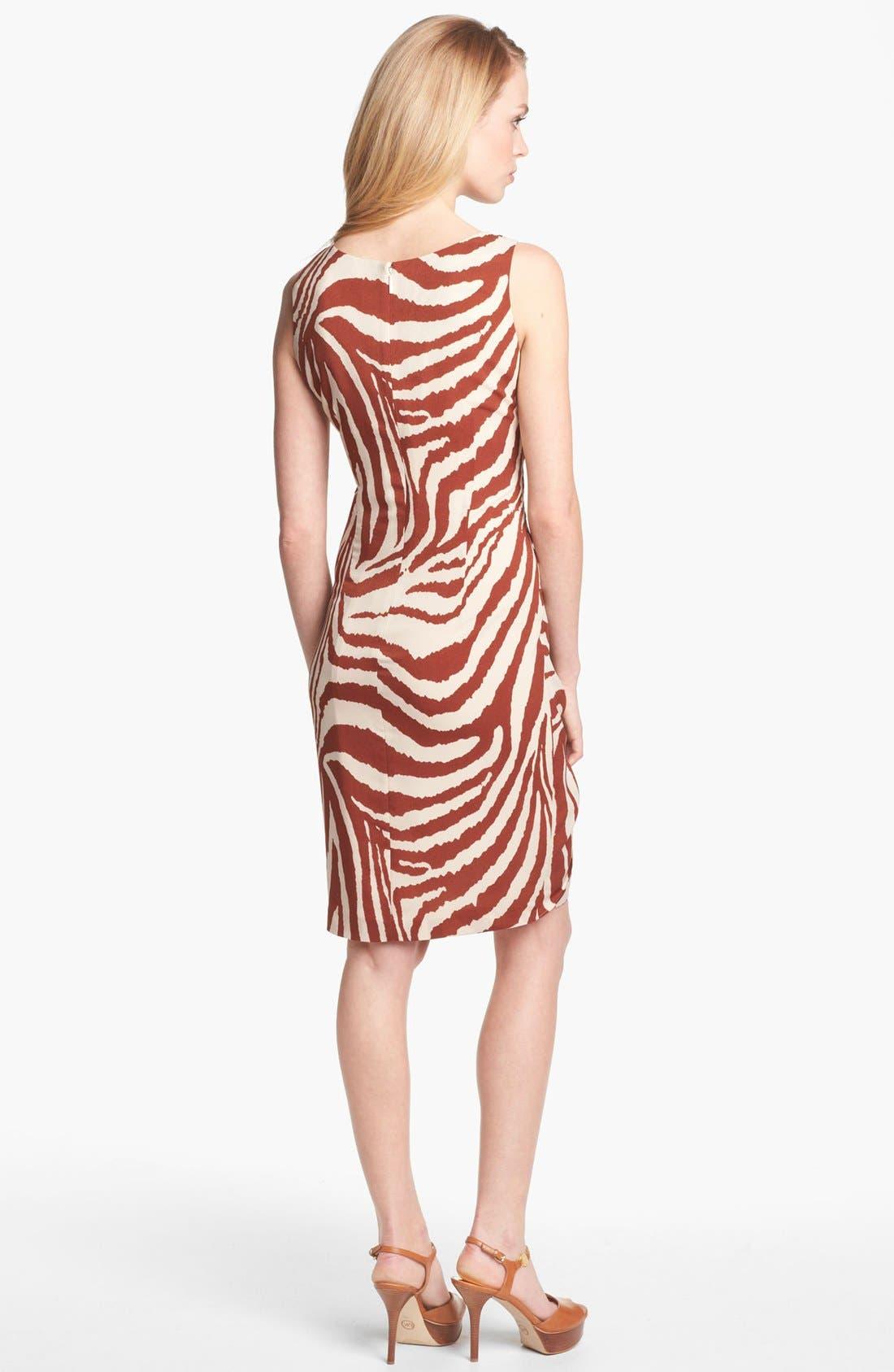 Alternate Image 2  - Anne Klein Animal Stripe Sarong Dress (Petite)
