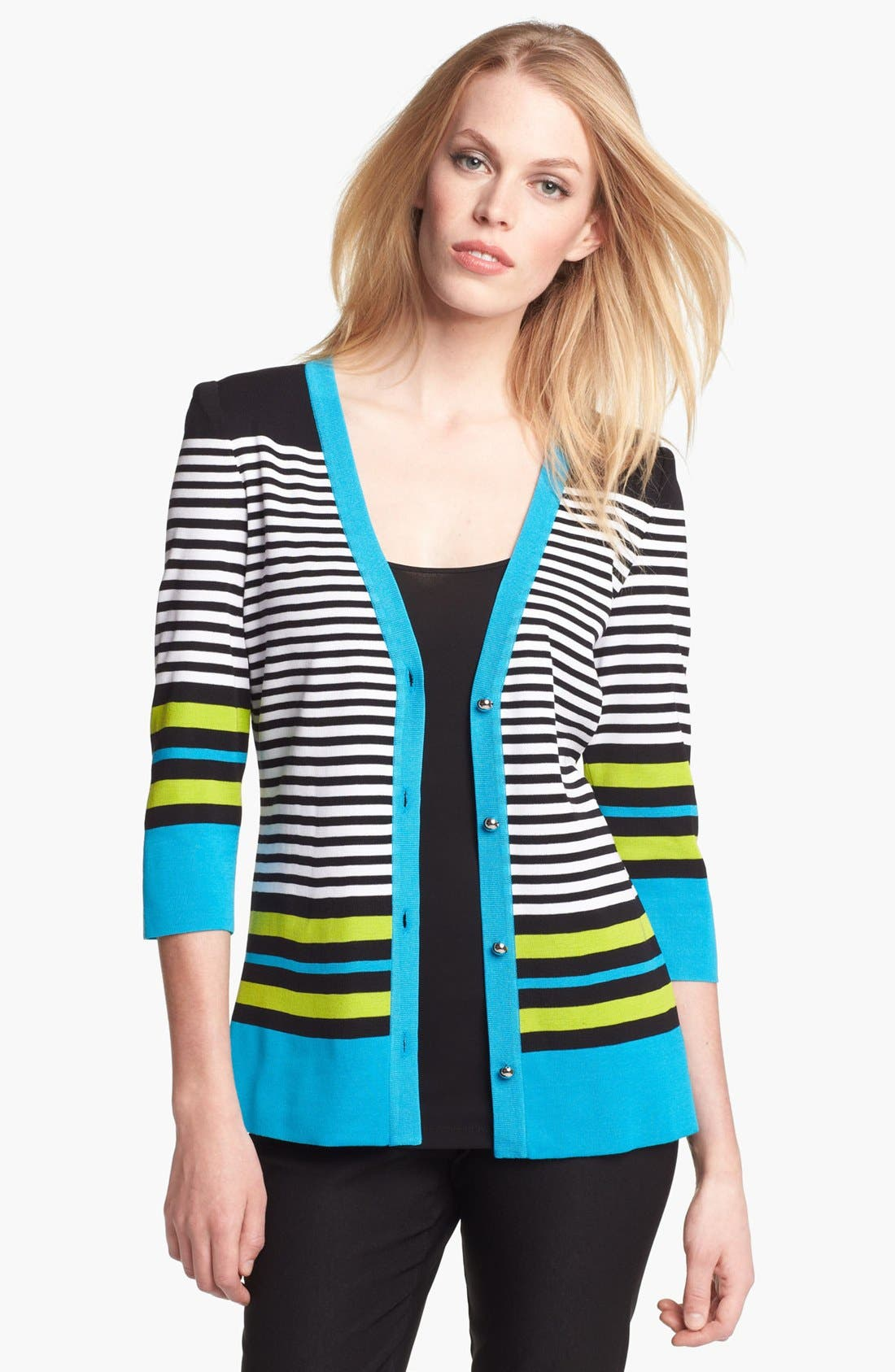 Alternate Image 1 Selected - Exclusively Misook 'Gina' Cardigan (Petite)