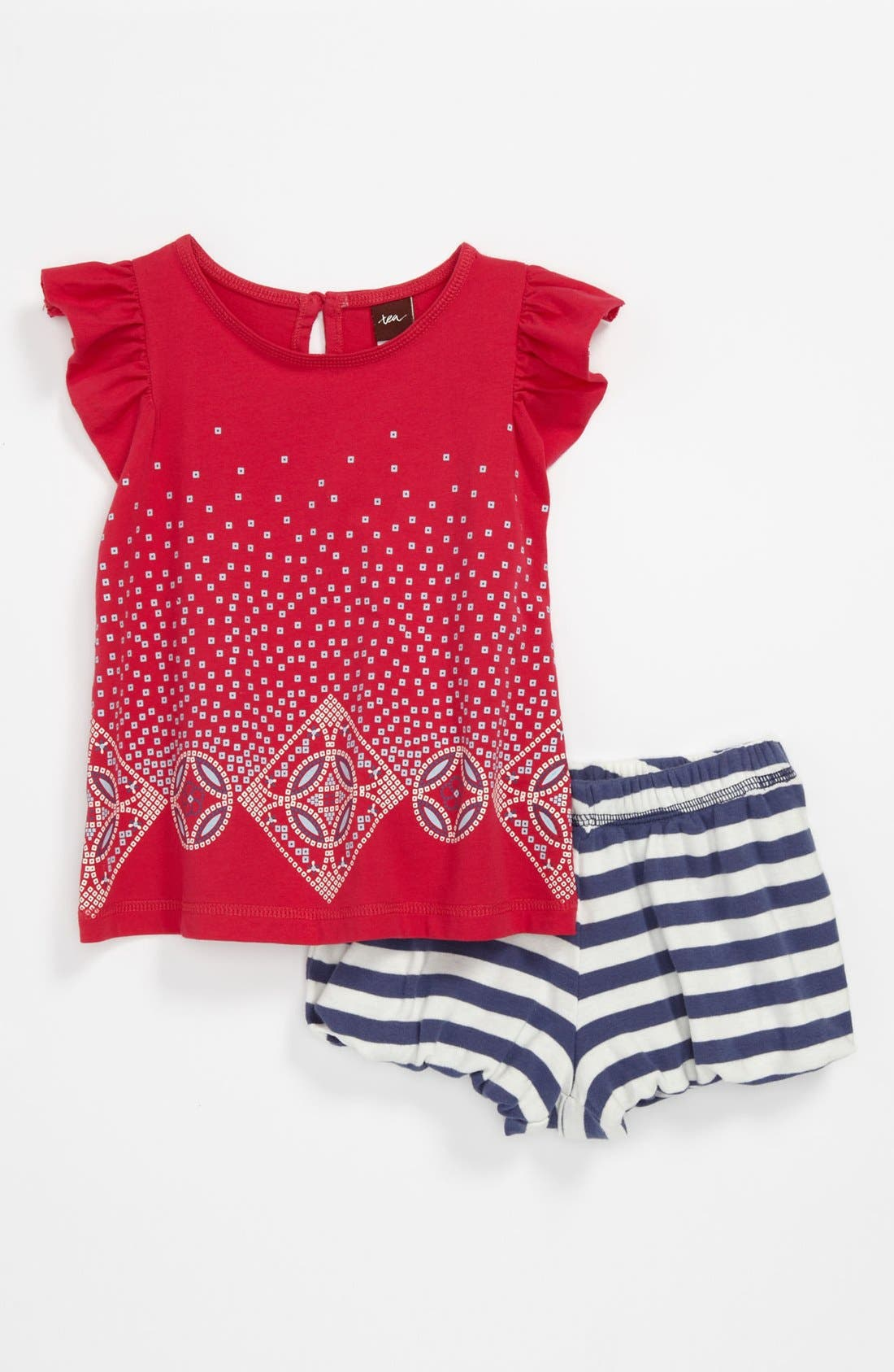 Alternate Image 1 Selected - Tea Collection 'Litema' Top & Shorts (Baby)