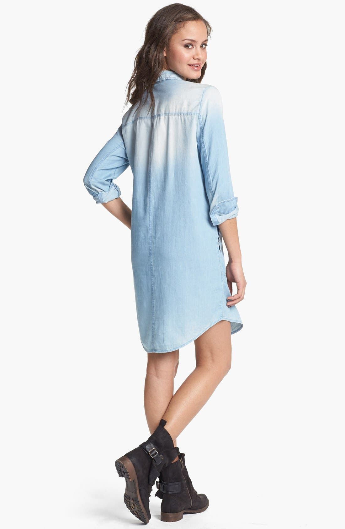Alternate Image 2  - Rubbish® Chambray Shirtdress (Juniors)