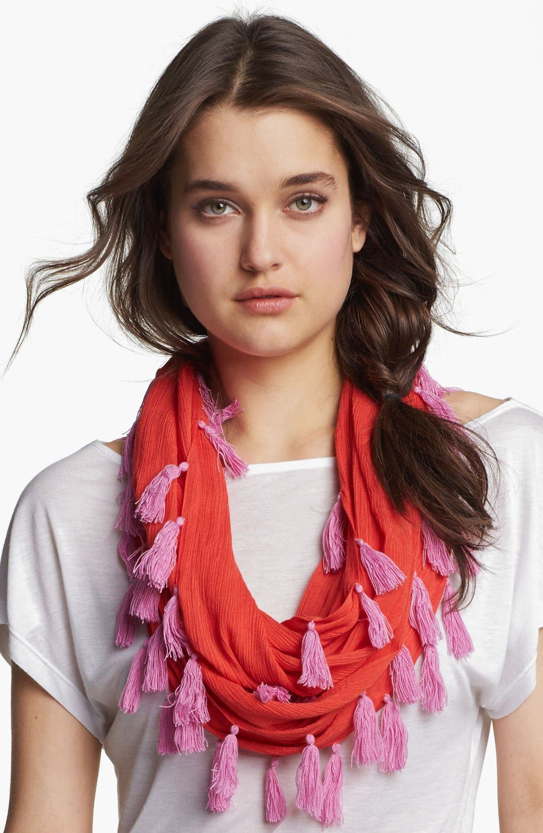 Alternate Image 1 Selected - Collection XIIX Tasseled Infinity Scarf
