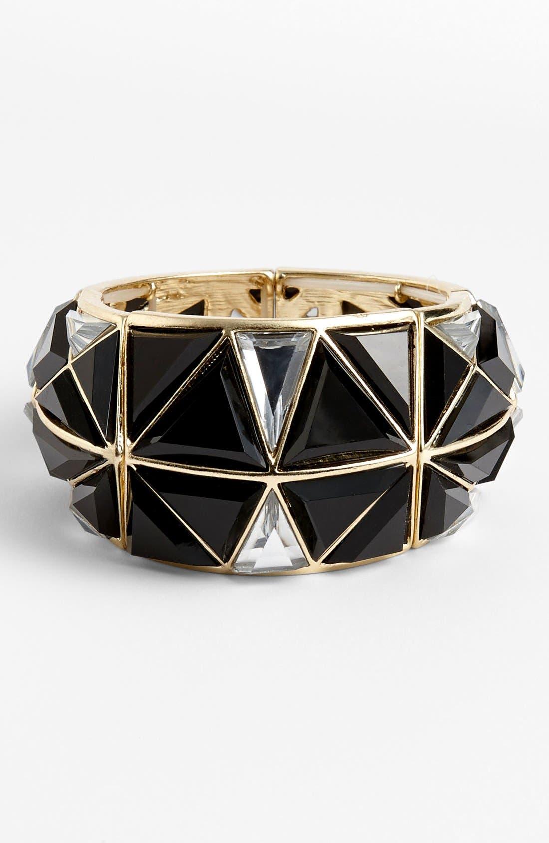 Main Image - Natasha Couture Stretch Triangle Bracelet