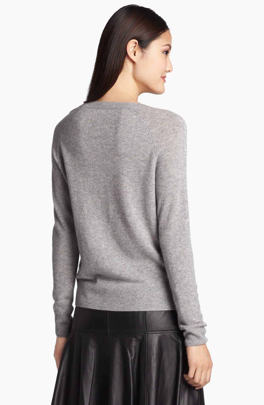 Alternate Image 3  - Halogen® Jewel Neck Cashmere Sweater