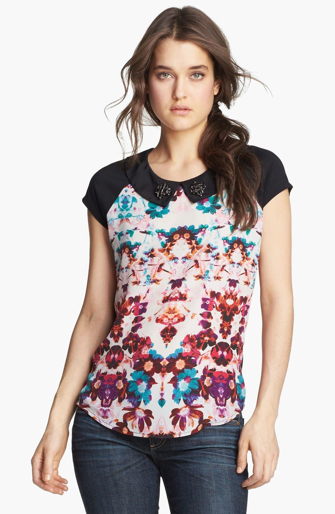 Alternate Image 1 Selected - Hinge® Embellished Collar Top