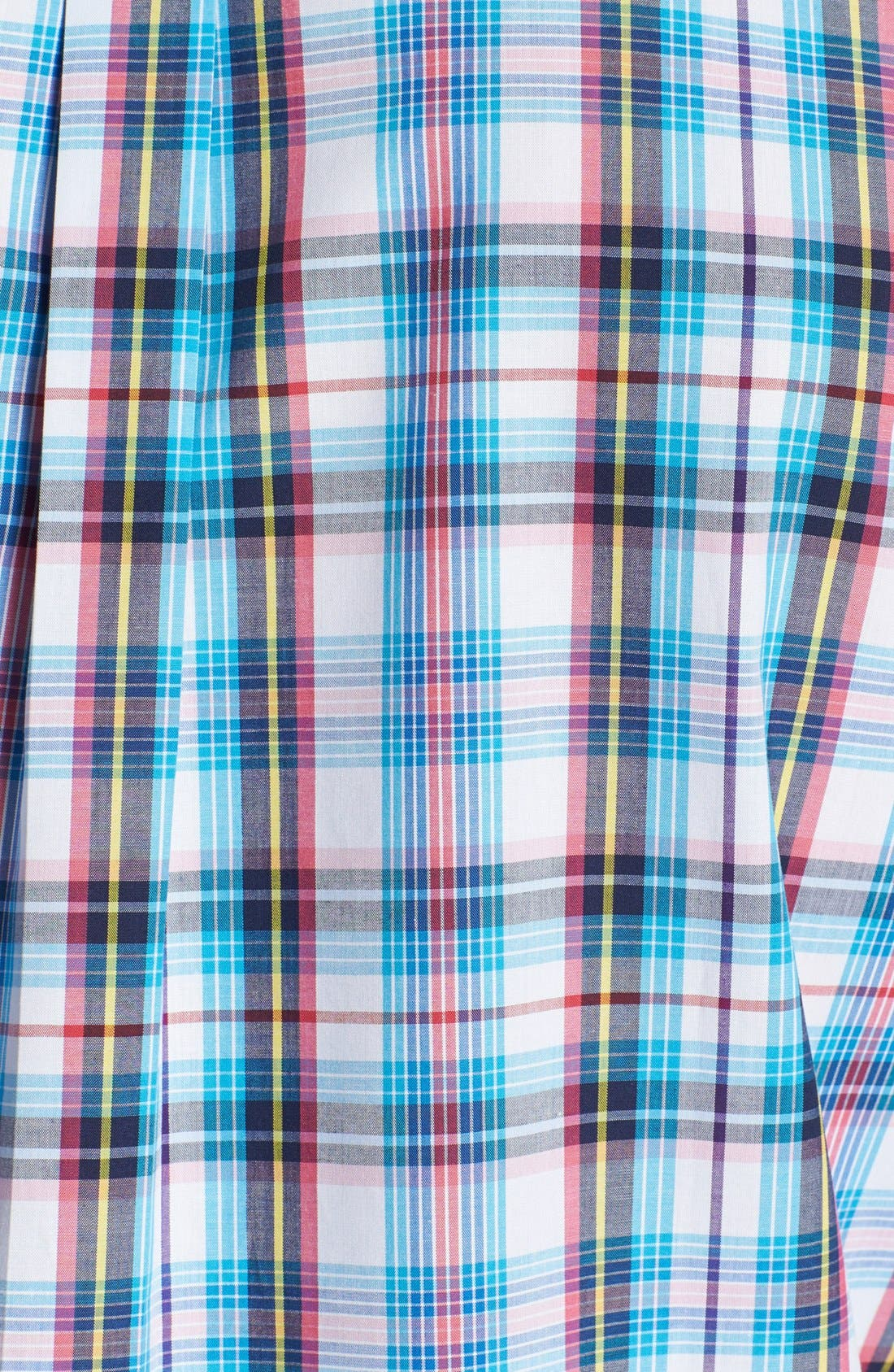Alternate Image 3  - Peter Millar 'Nantucket' Tartan Short Sleeve Sport Shirt