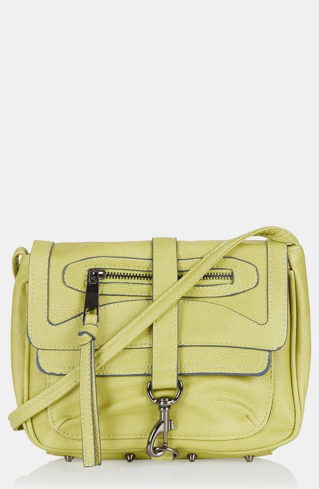 Main Image - Topshop Clip Front Crossbody Bag