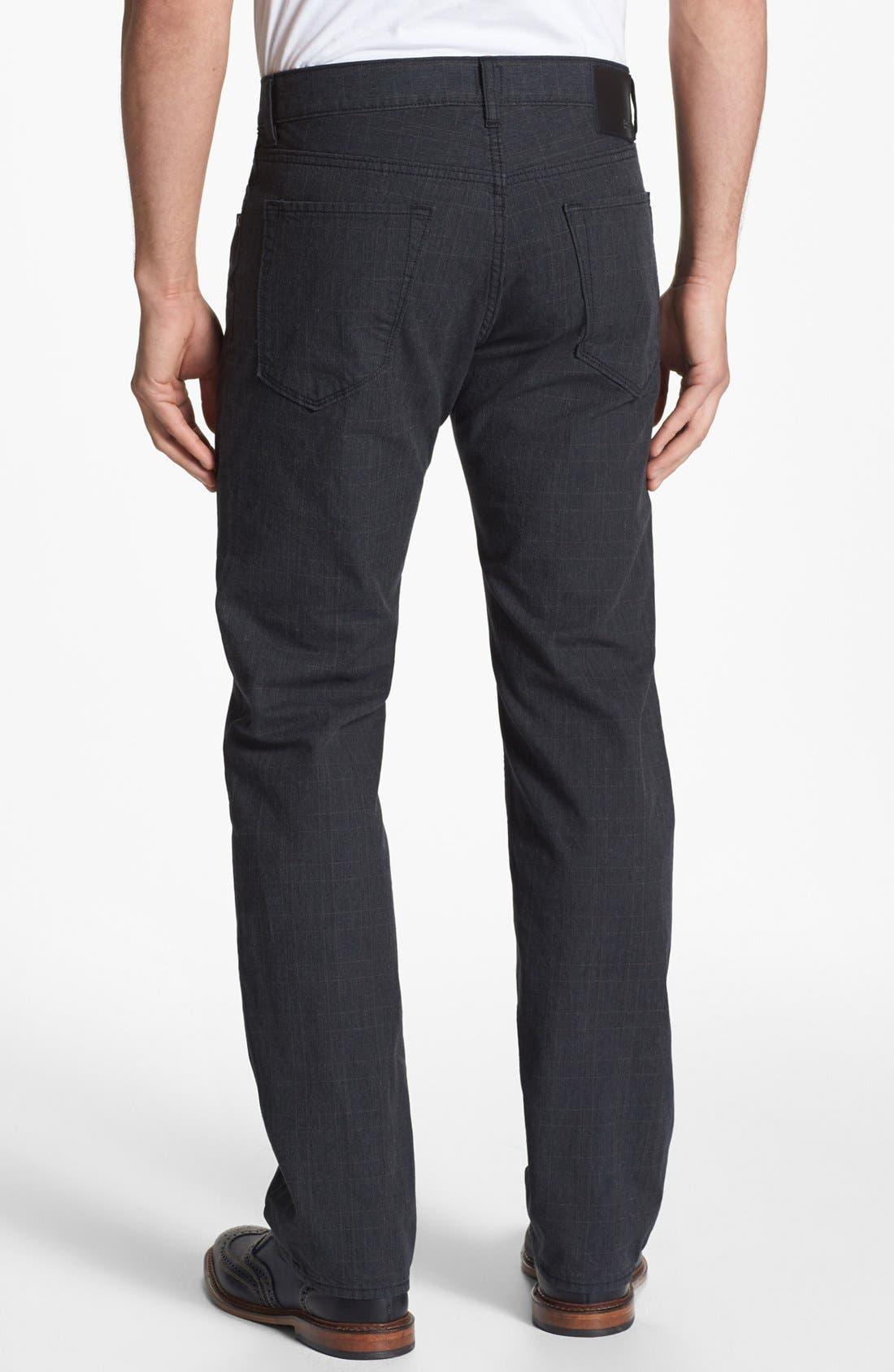 Alternate Image 2  - BOSS HUGO BOSS 'Maine' Checked Straight Leg Five Pocket Pants