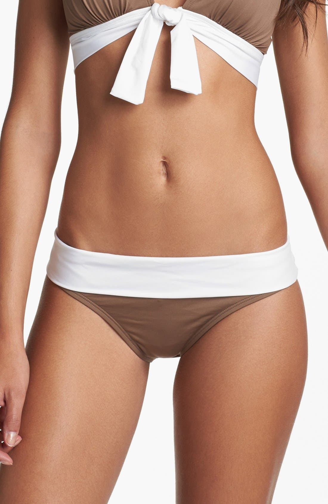 Alternate Image 1 Selected - Tommy Bahama 'Deck Piping' Foldover Bikini Bottoms