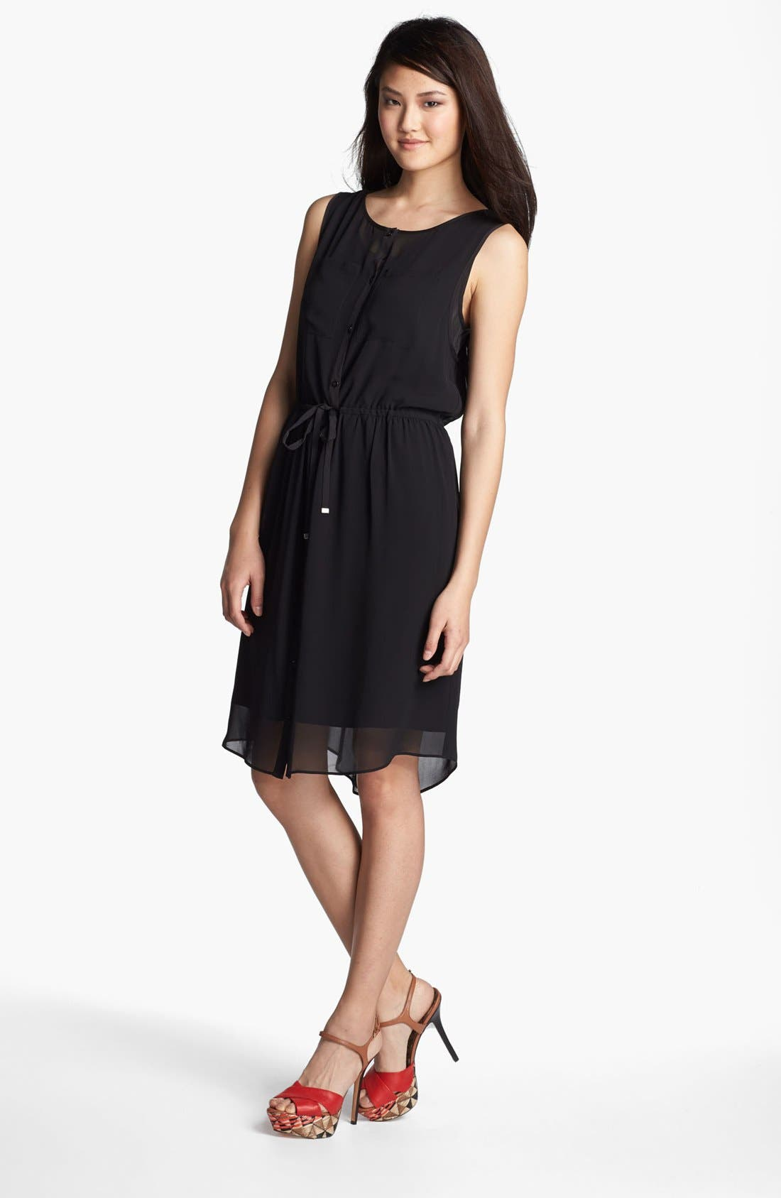 Main Image - Kenneth Cole New York 'Amy' Sleeveless Drawstring  Dress