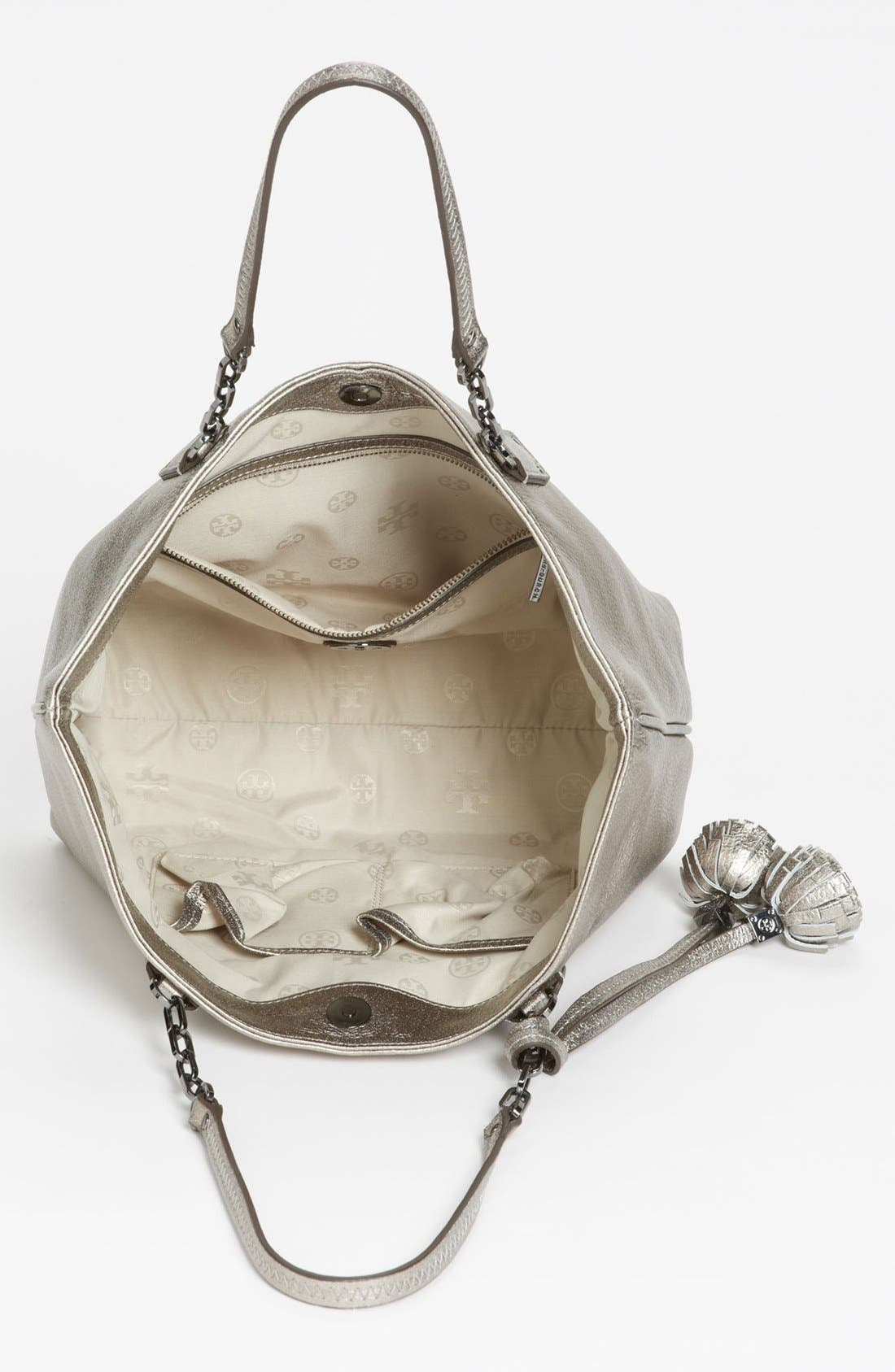 Alternate Image 3  - Tory Burch 'Thea Metallic - Small' Leather Tote