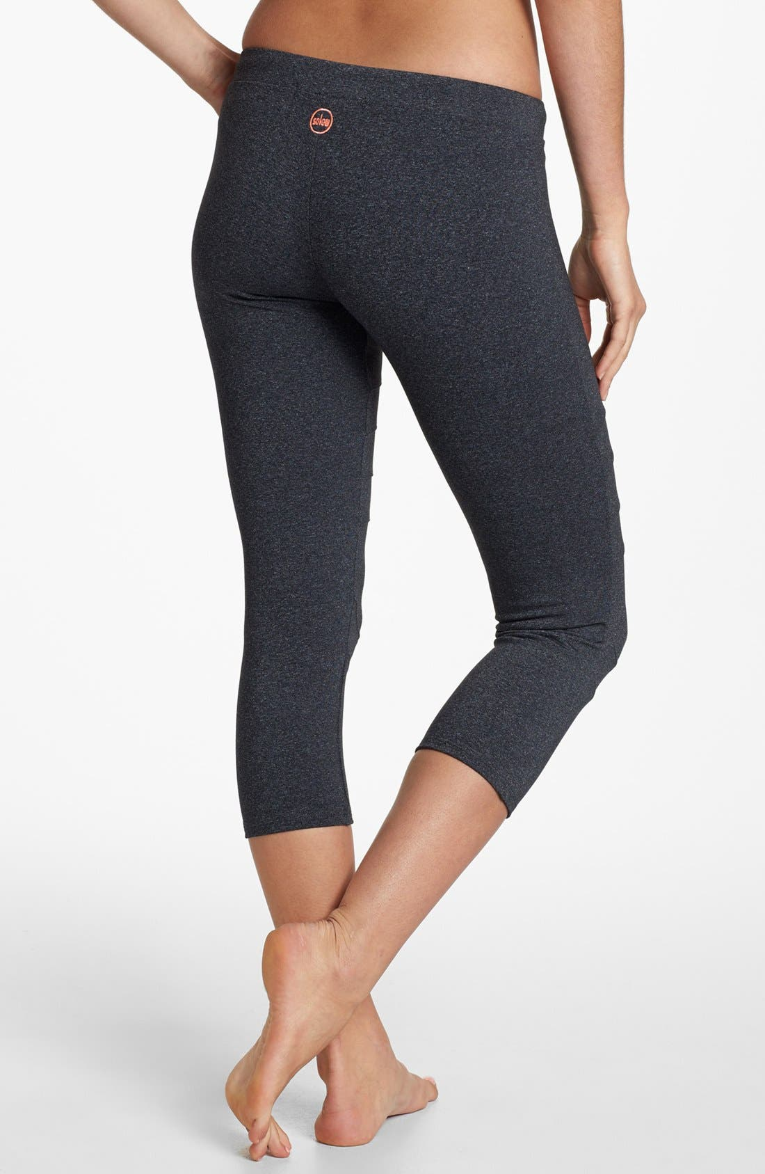 Alternate Image 2  - Solow Moto Crop Drawcord Leggings