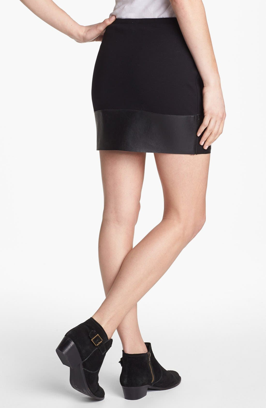 Alternate Image 2  - Bailey 44 'Mano a Mano' Faux Leather Trim Miniskirt
