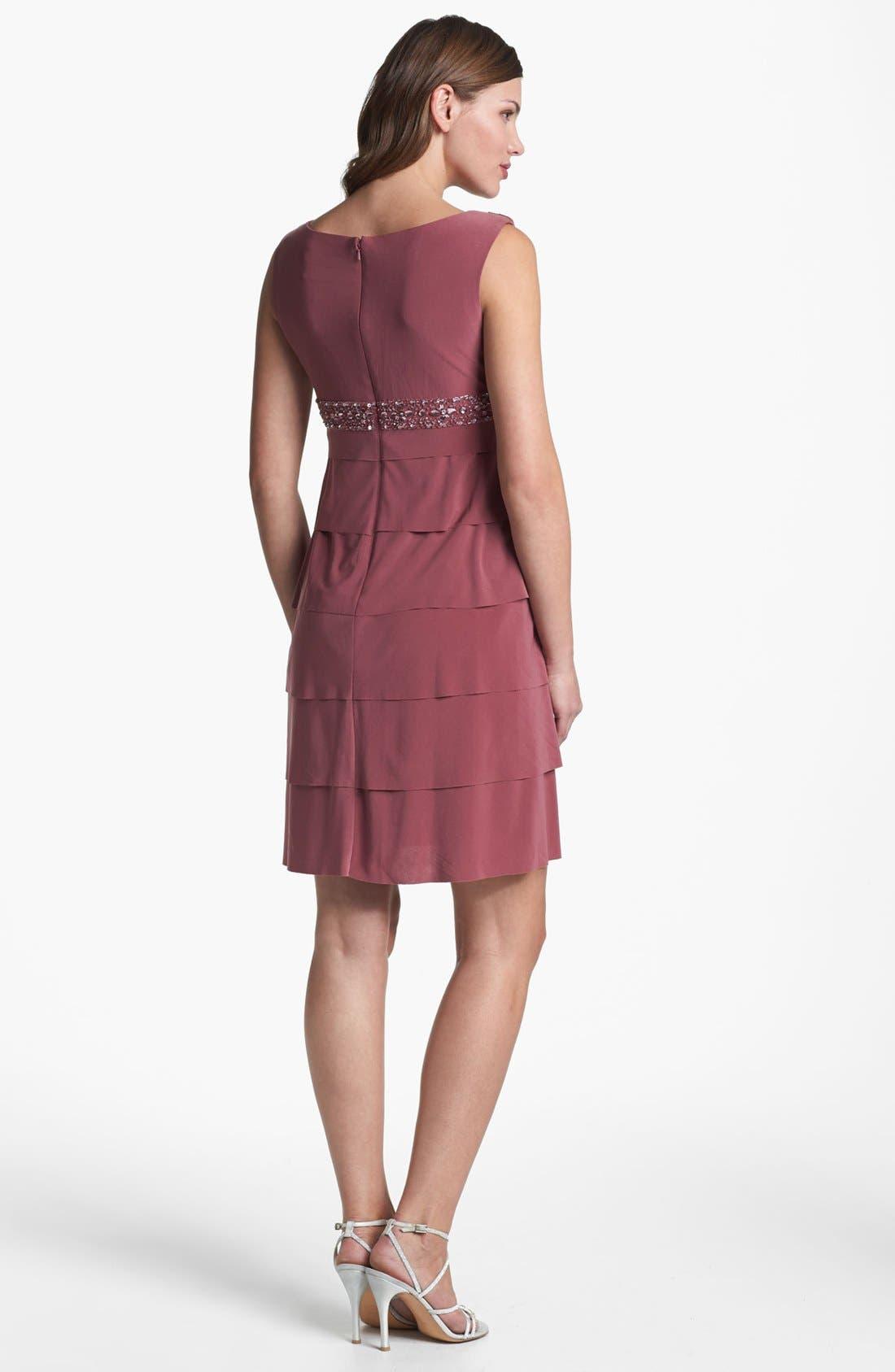 Alternate Image 3  - Alex Evenings Tiered Dress & Bolero (Petite)