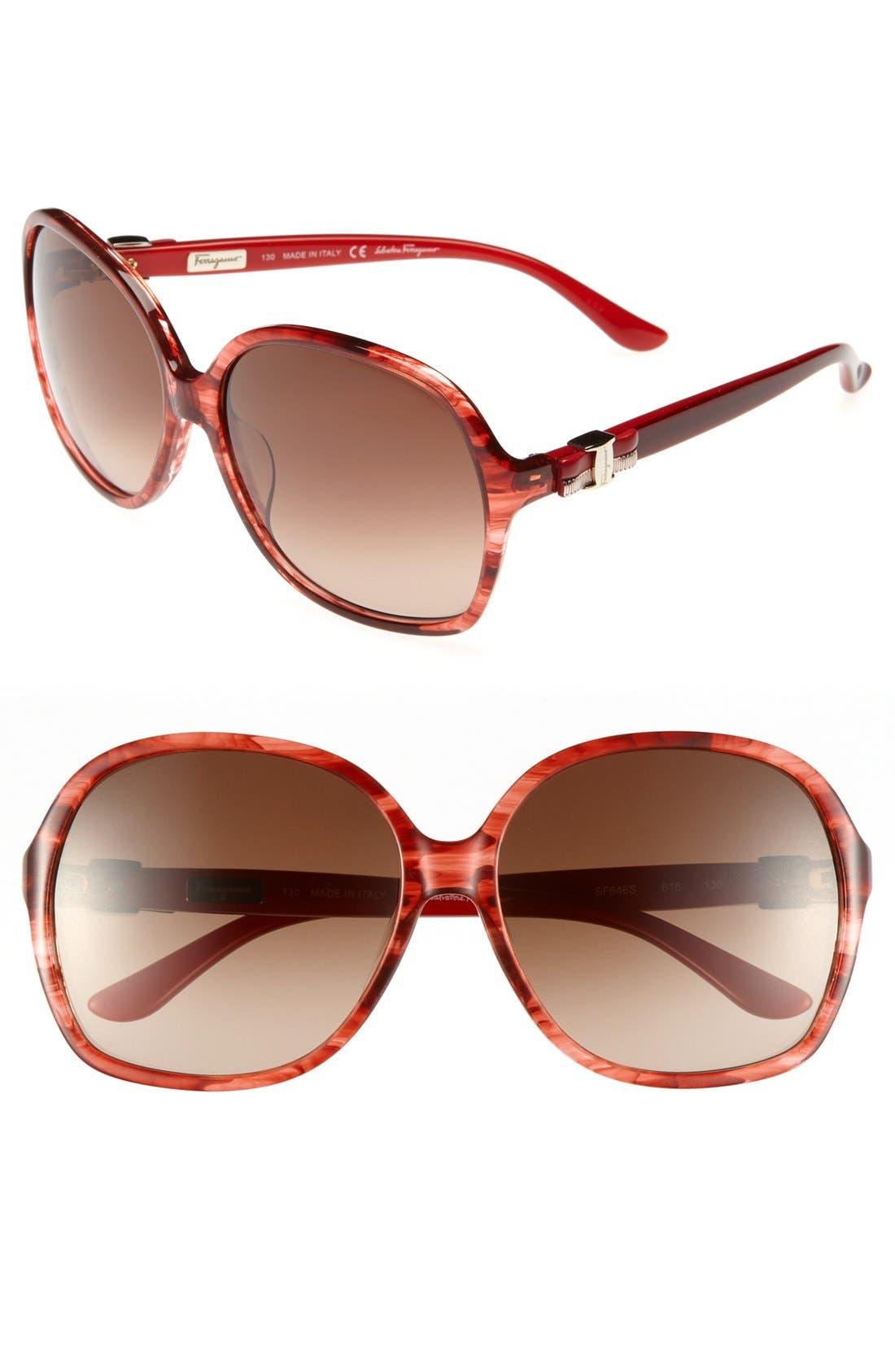 Main Image - Salvatore Ferragamo 59mm Oversized Sunglasses