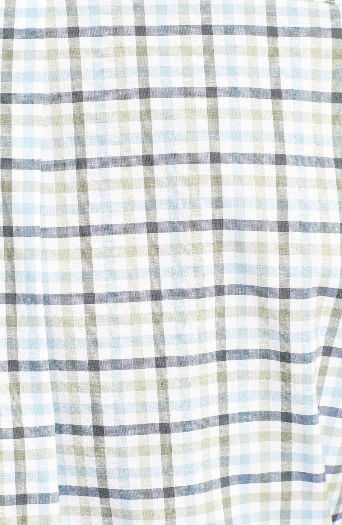 Alternate Image 3  - Peter Millar Check Sport Shirt (Tall)