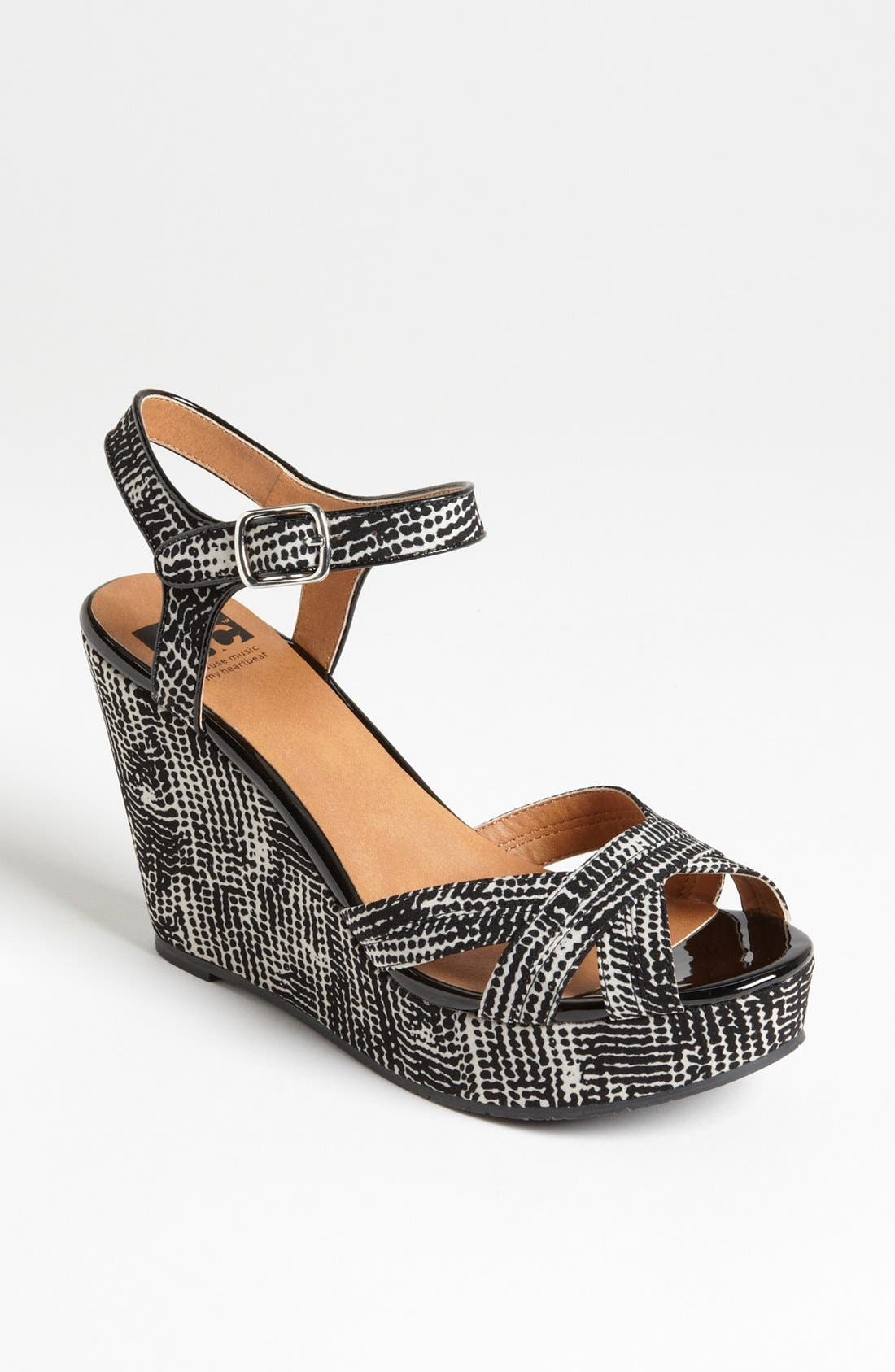 Alternate Image 1 Selected - BC Footwear 'Kissable' Ankle Strap Wedge