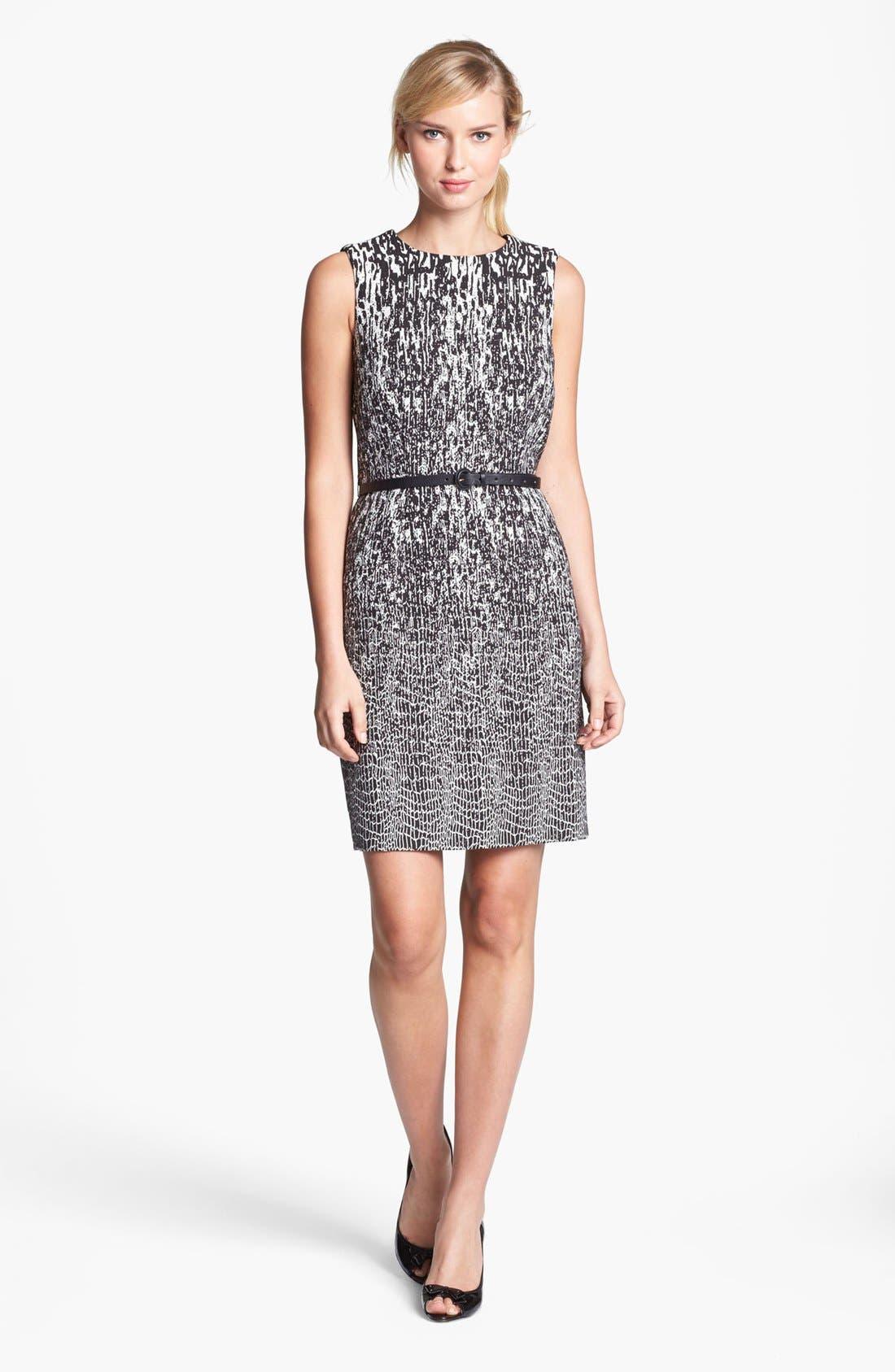 Main Image - Taylor Dresses Jacquard Sleeveless Sheath Dress