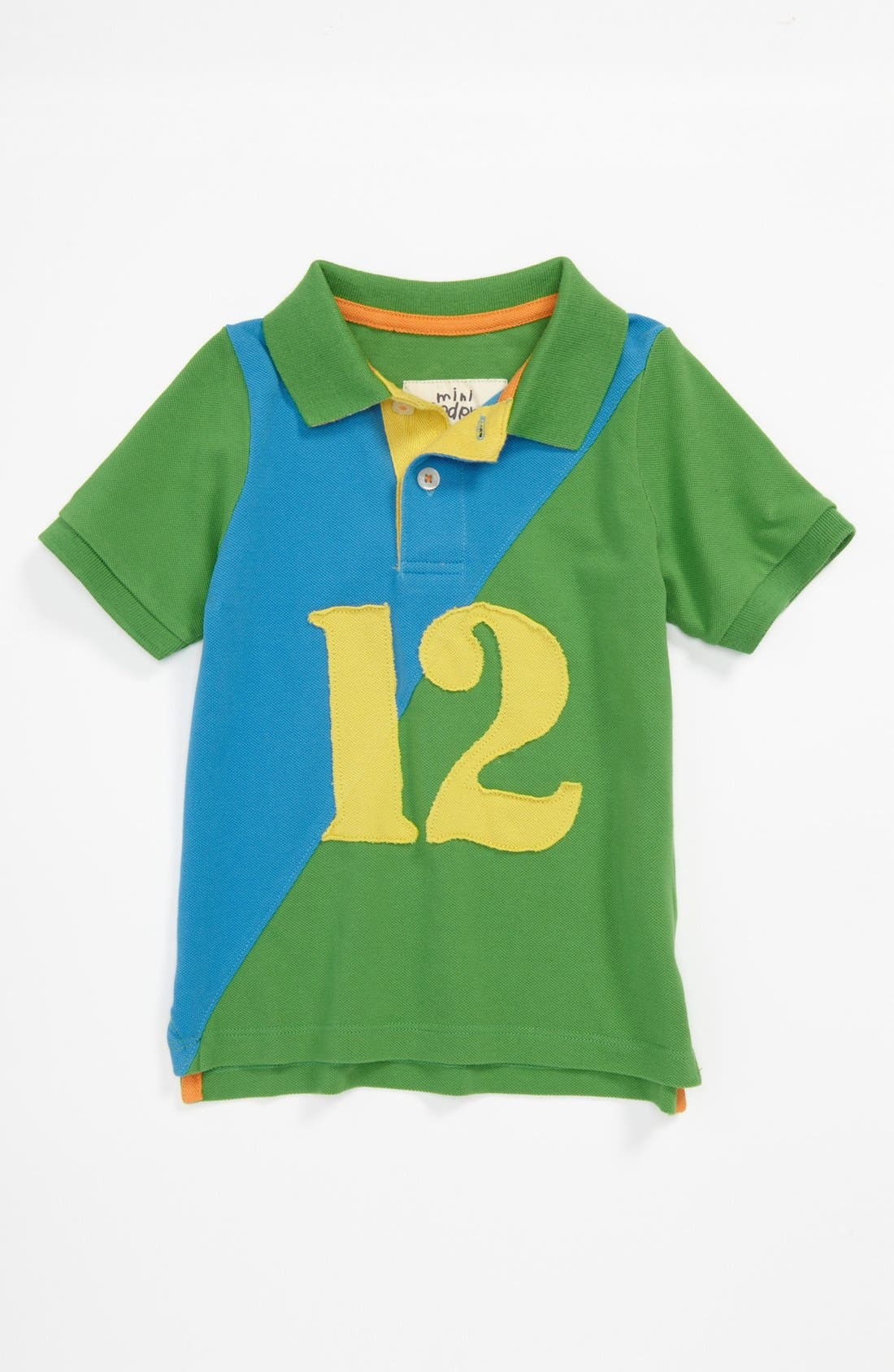 Main Image - Mini Boden Colorblock Polo (Little Boys & Big Boys)