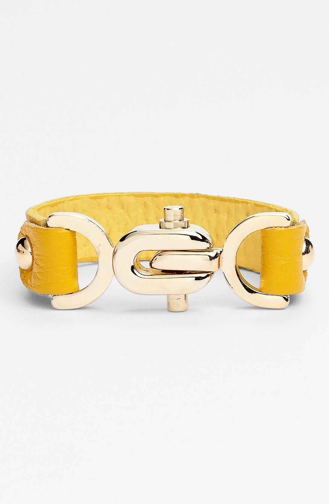 Alternate Image 2  - Natasha Couture Studded Leather Bracelet