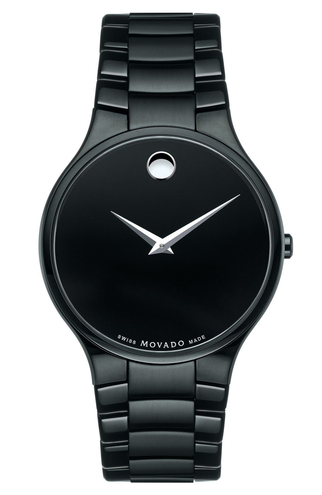 Alternate Image 1 Selected - Movado 'Large Serio' Stainless Steel Watch, 38mm